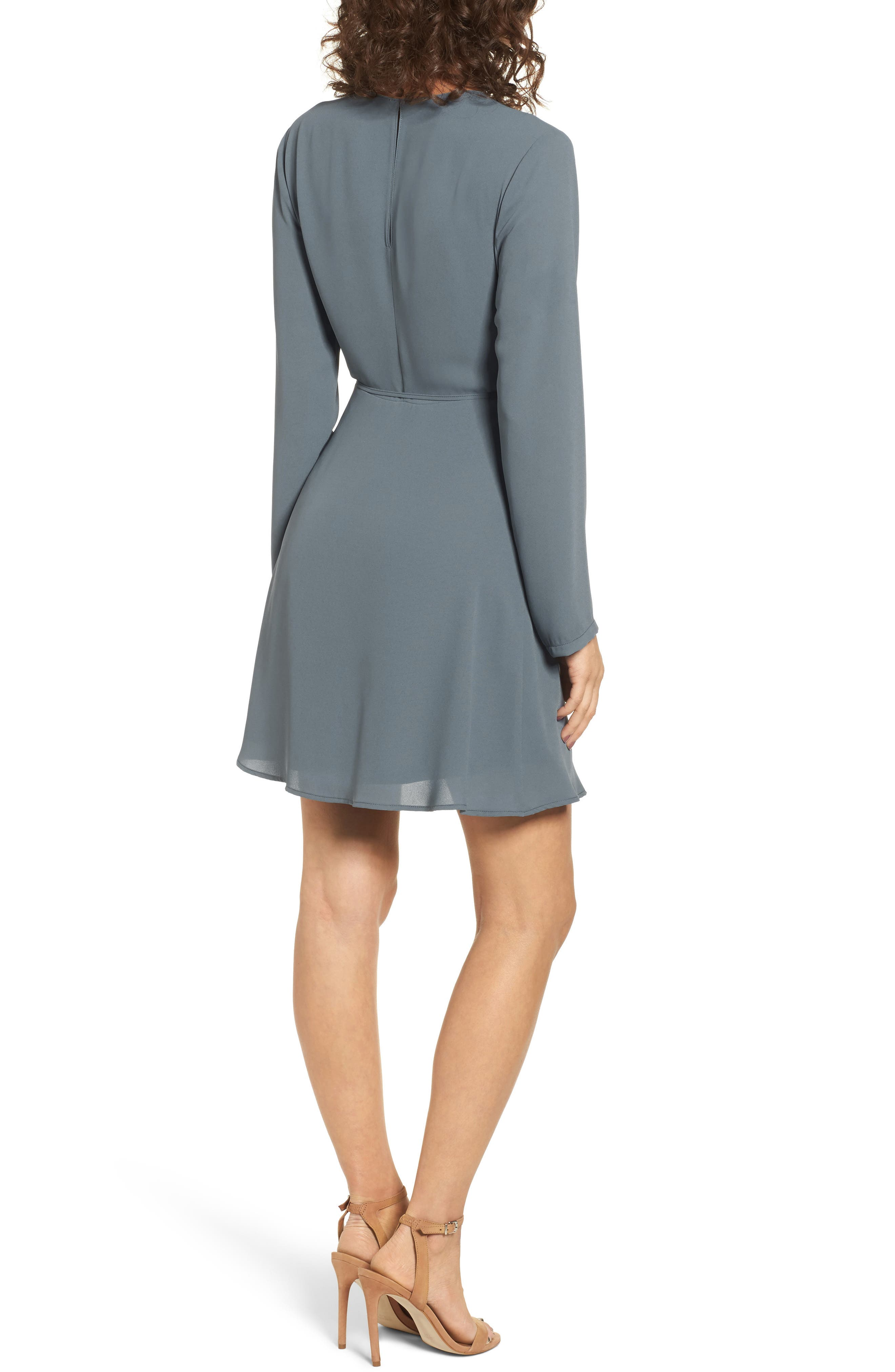 Elly Wrap Dress,                             Alternate thumbnail 2, color,                             Stormy Weather