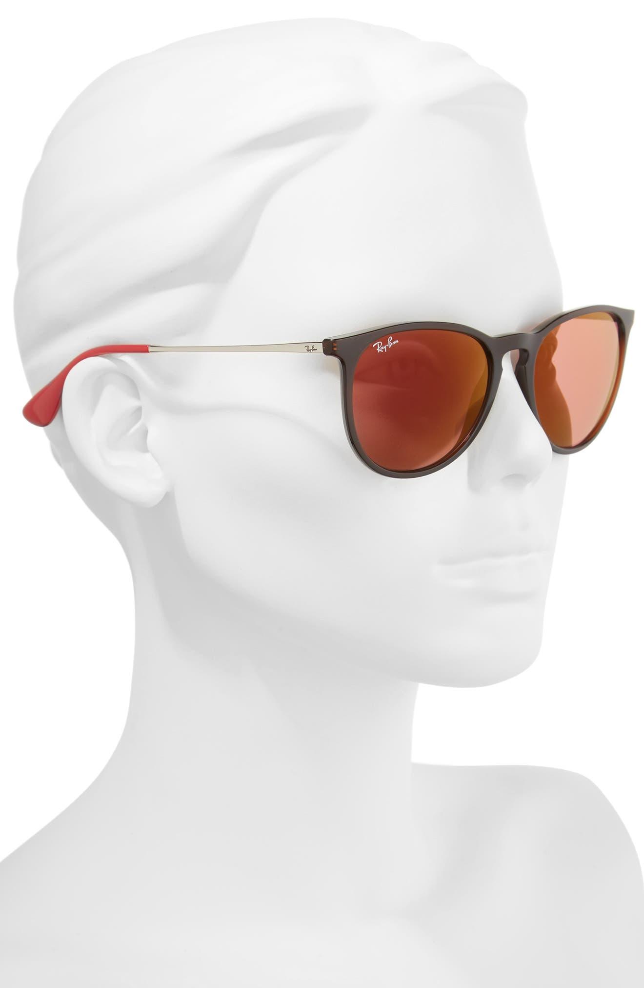 Erika Classic 54mm Sunglasses,                             Alternate thumbnail 3, color,                             Brown