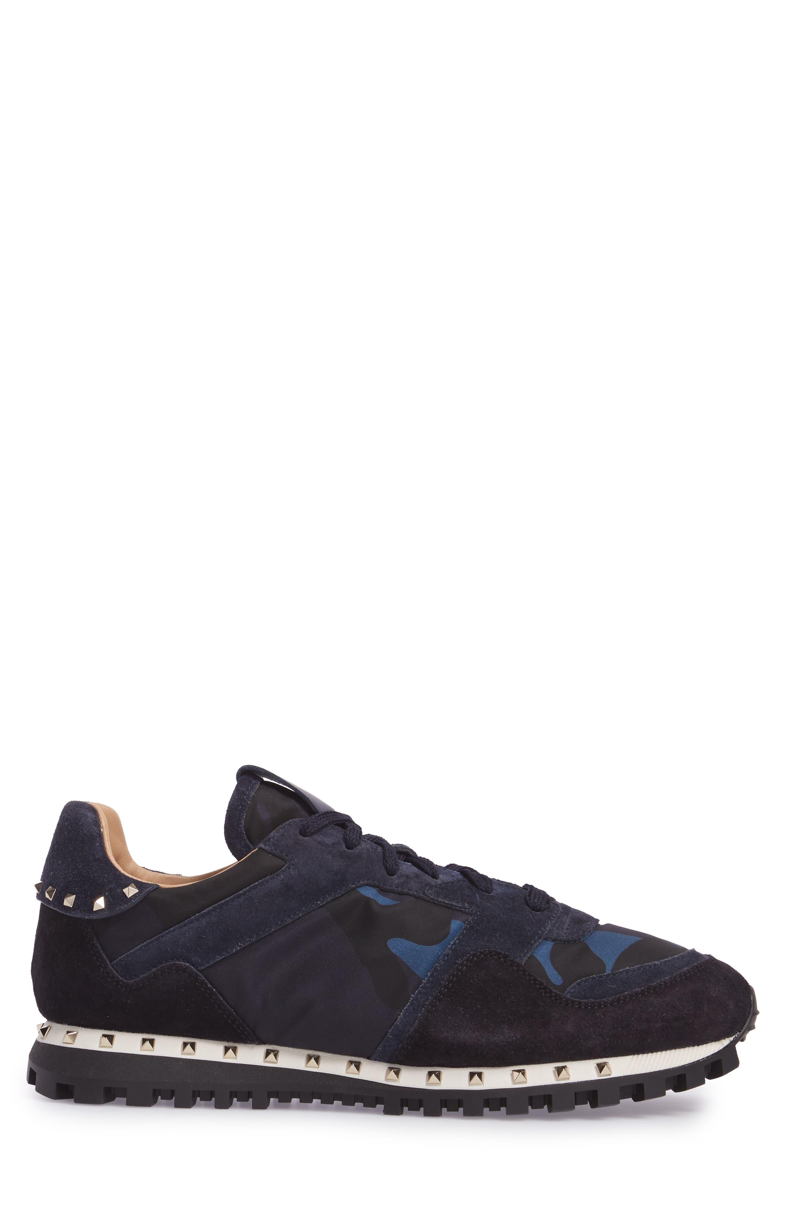 Camo Rockstud Sneaker,                             Alternate thumbnail 3, color,                             Marine/ Nero/ Dark Blue