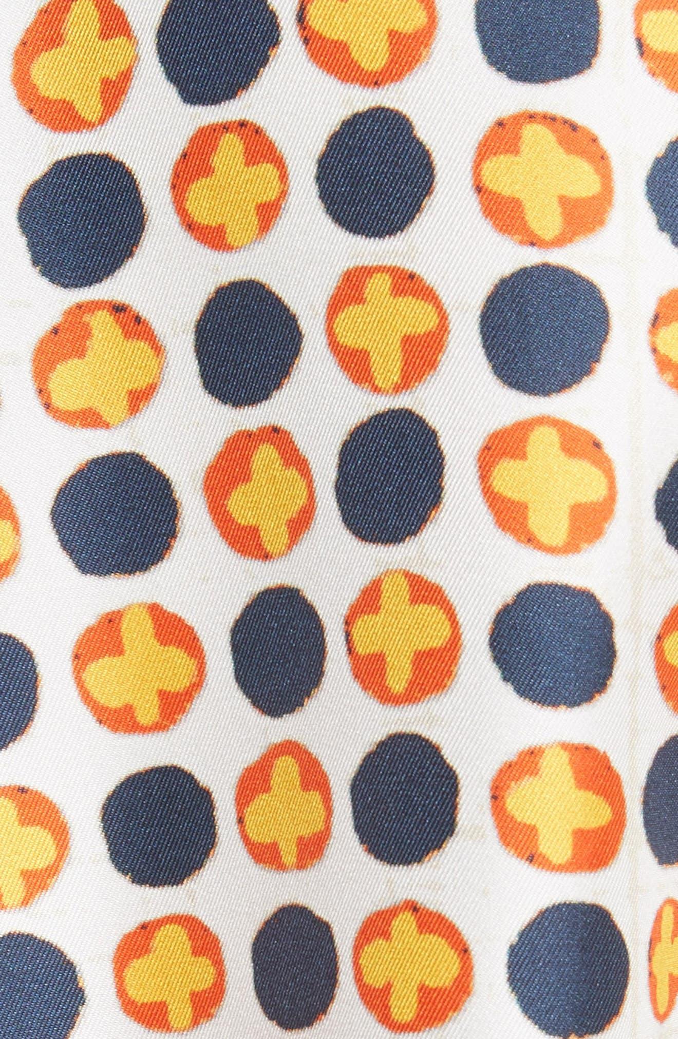 Sienna Bow Neck Silk Blouse,                             Alternate thumbnail 5, color,                             Scrapbook
