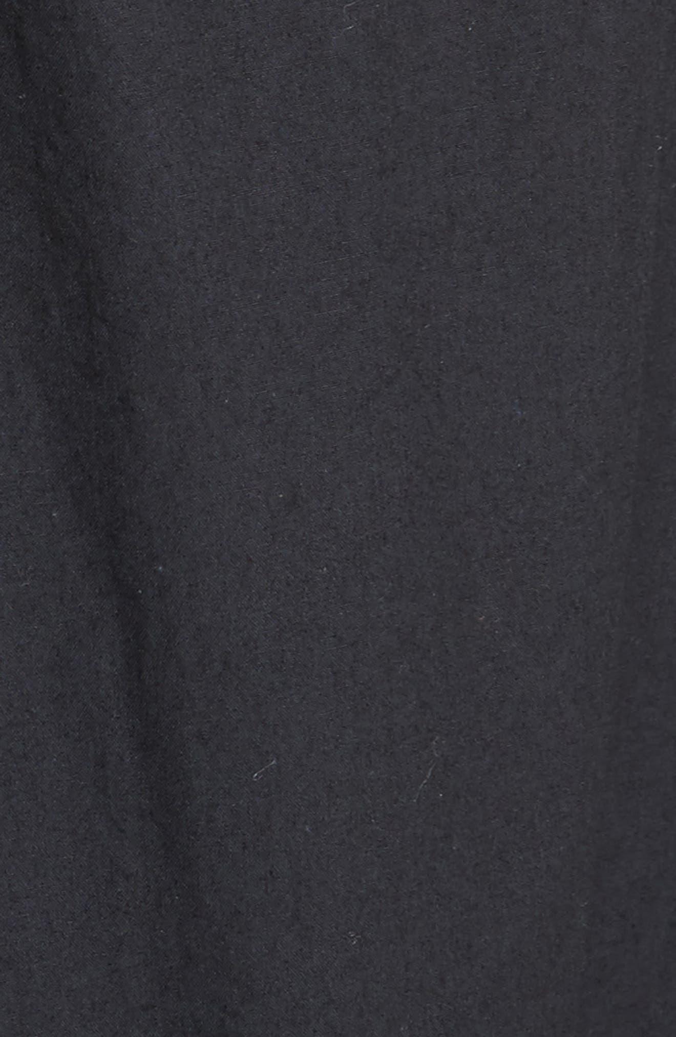 Clorinda Tie Front Cutout Cotton Dress,                             Alternate thumbnail 6, color,                             Caviar
