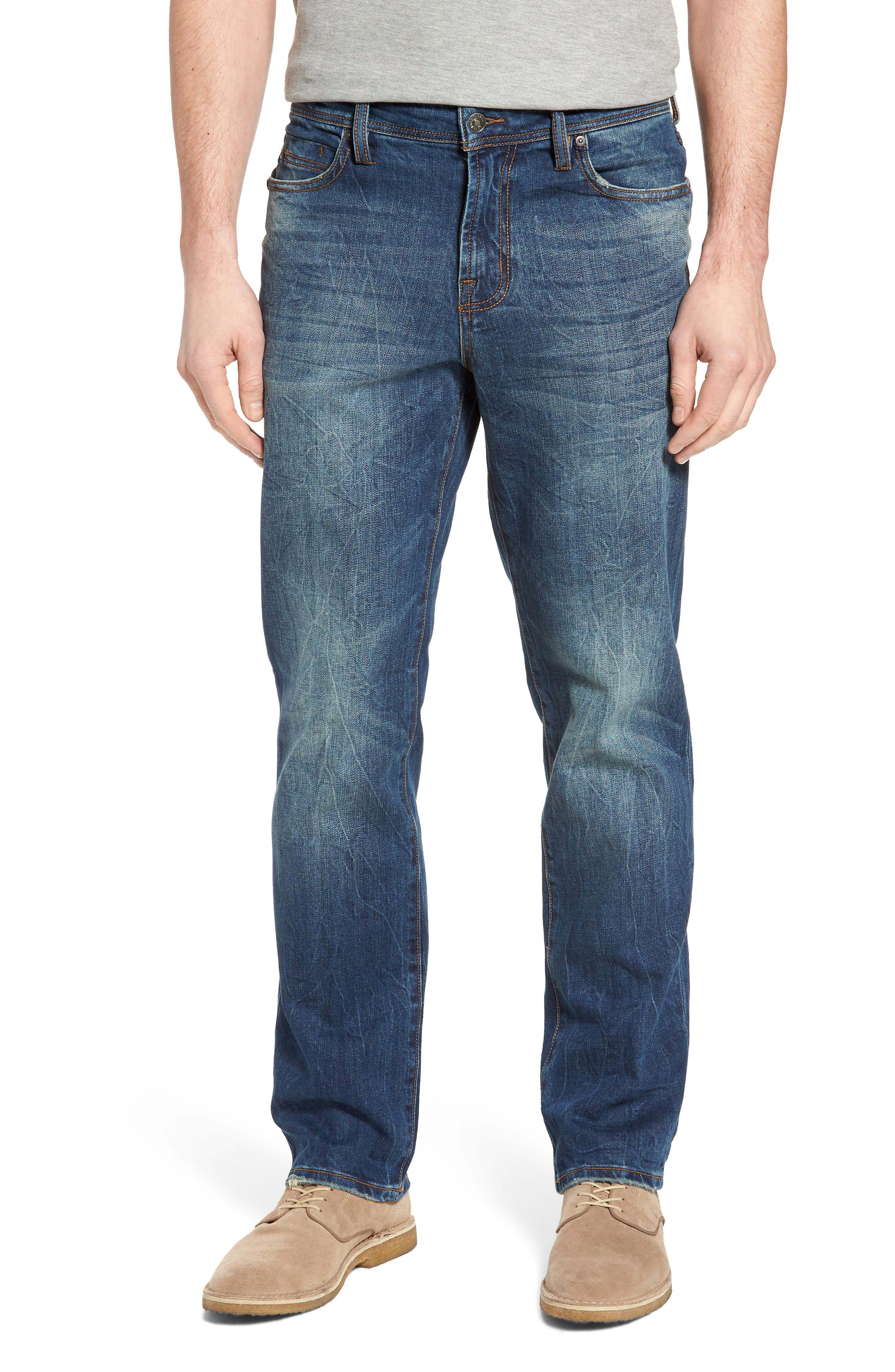 Jeans Co. Regent Relaxed Fit Jeans,                         Main,                         color, Odessa Vintage Medium