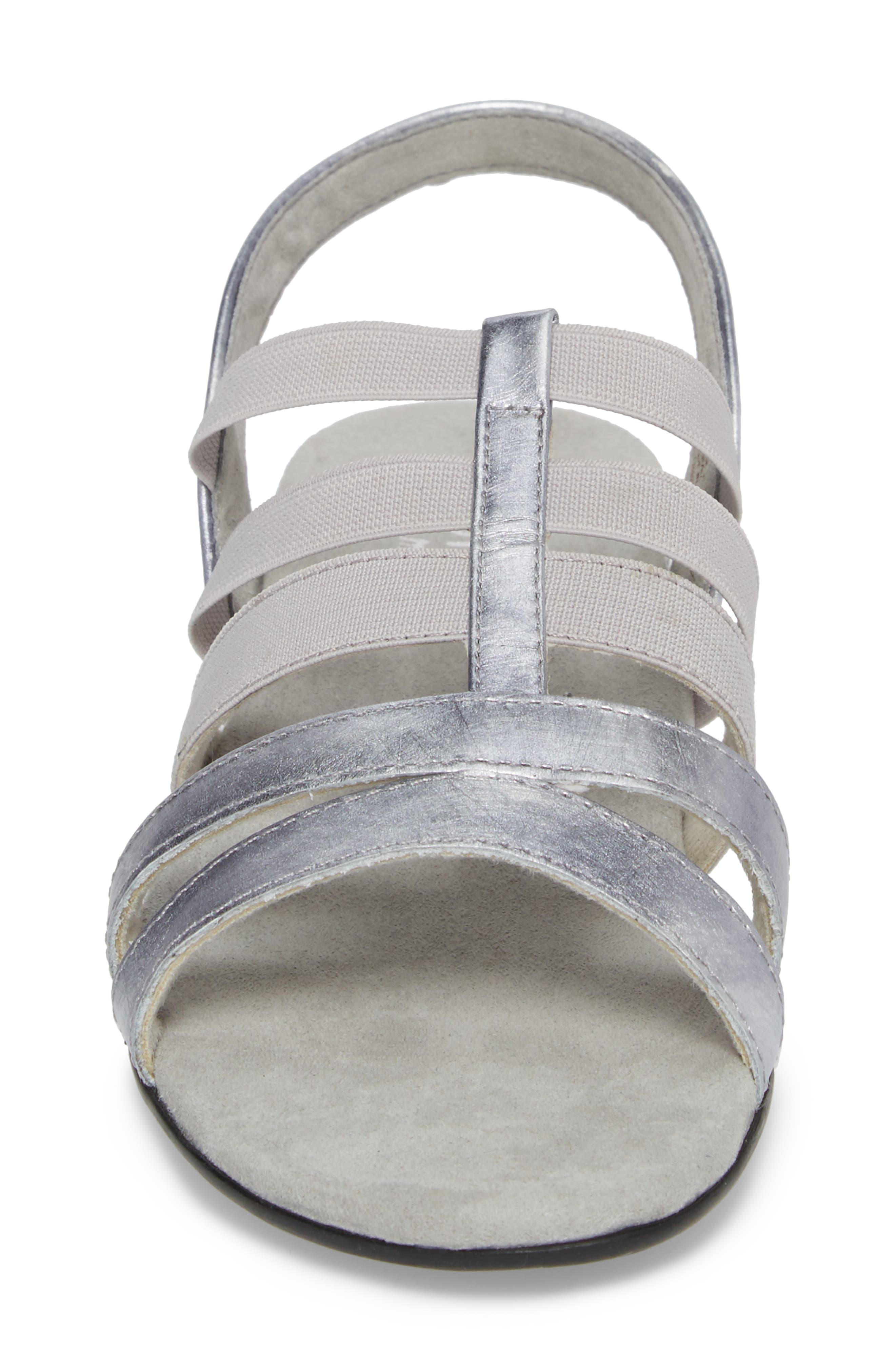 Bev Sandal,                             Alternate thumbnail 4, color,                             Silver Fabric