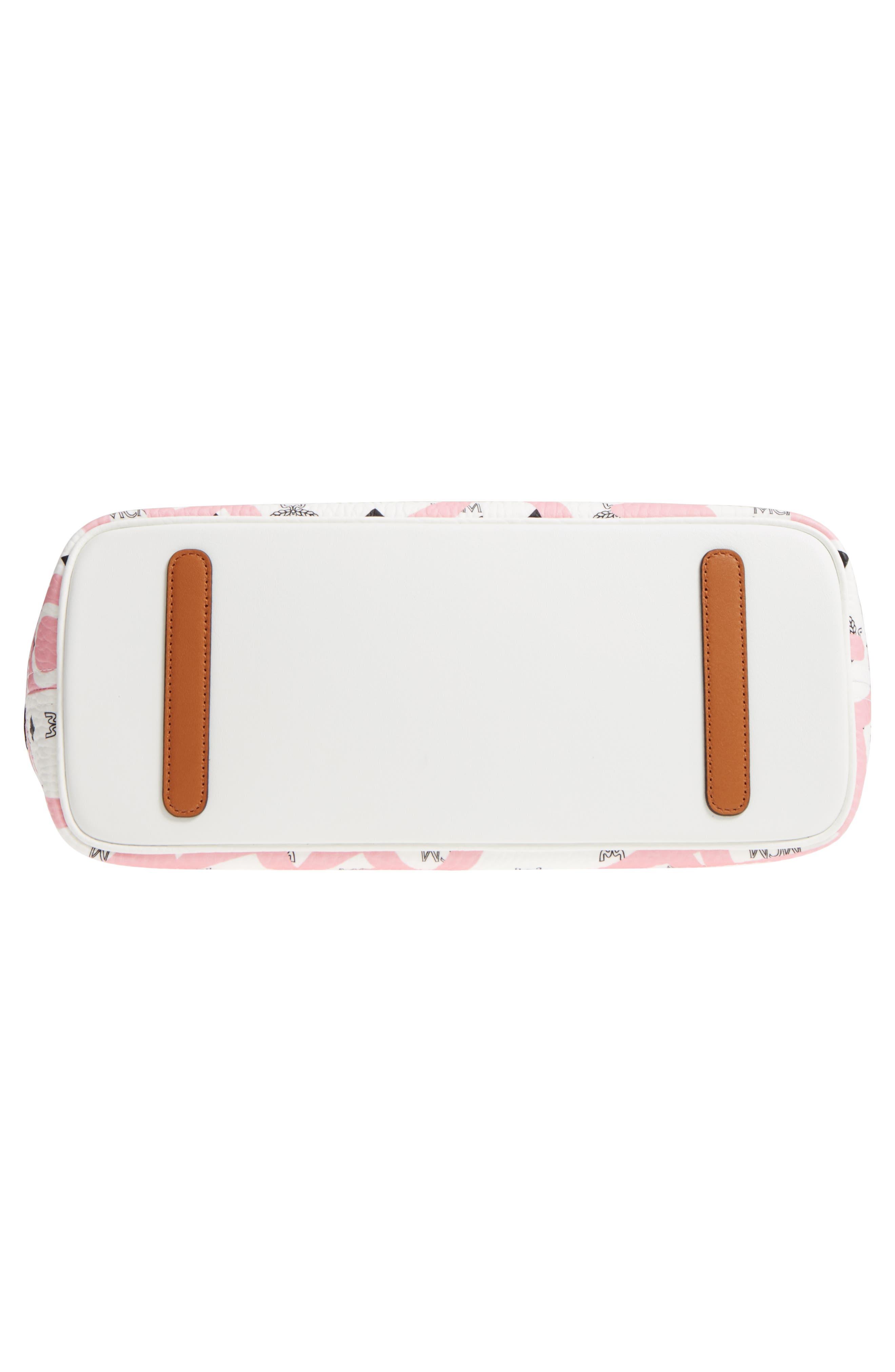 x Eddie Kang Medium Reversible Coated Canvas Shopper,                             Alternate thumbnail 6, color,                             White/ Pink