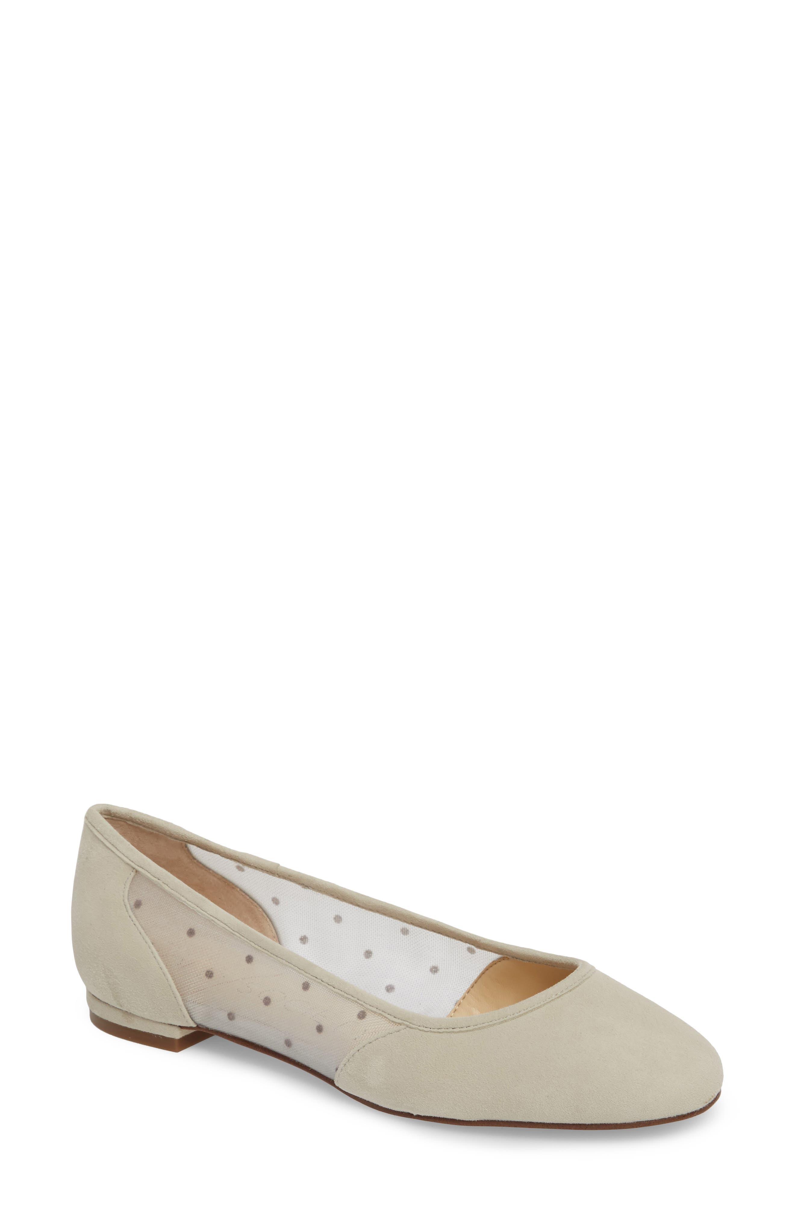 Pammy Ballet Flat,                         Main,                         color, Dove Grey
