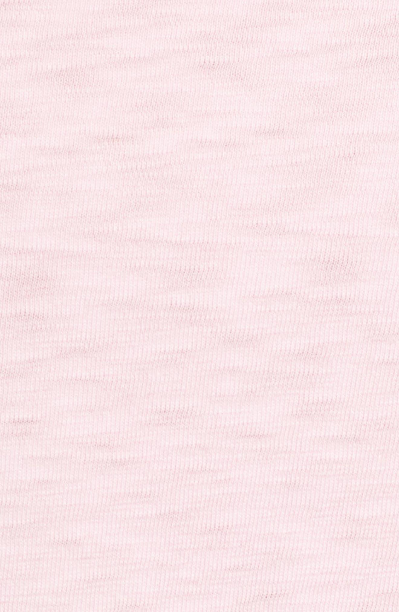 Slub Knit T-Shirt,                             Alternate thumbnail 5, color,                             Pink