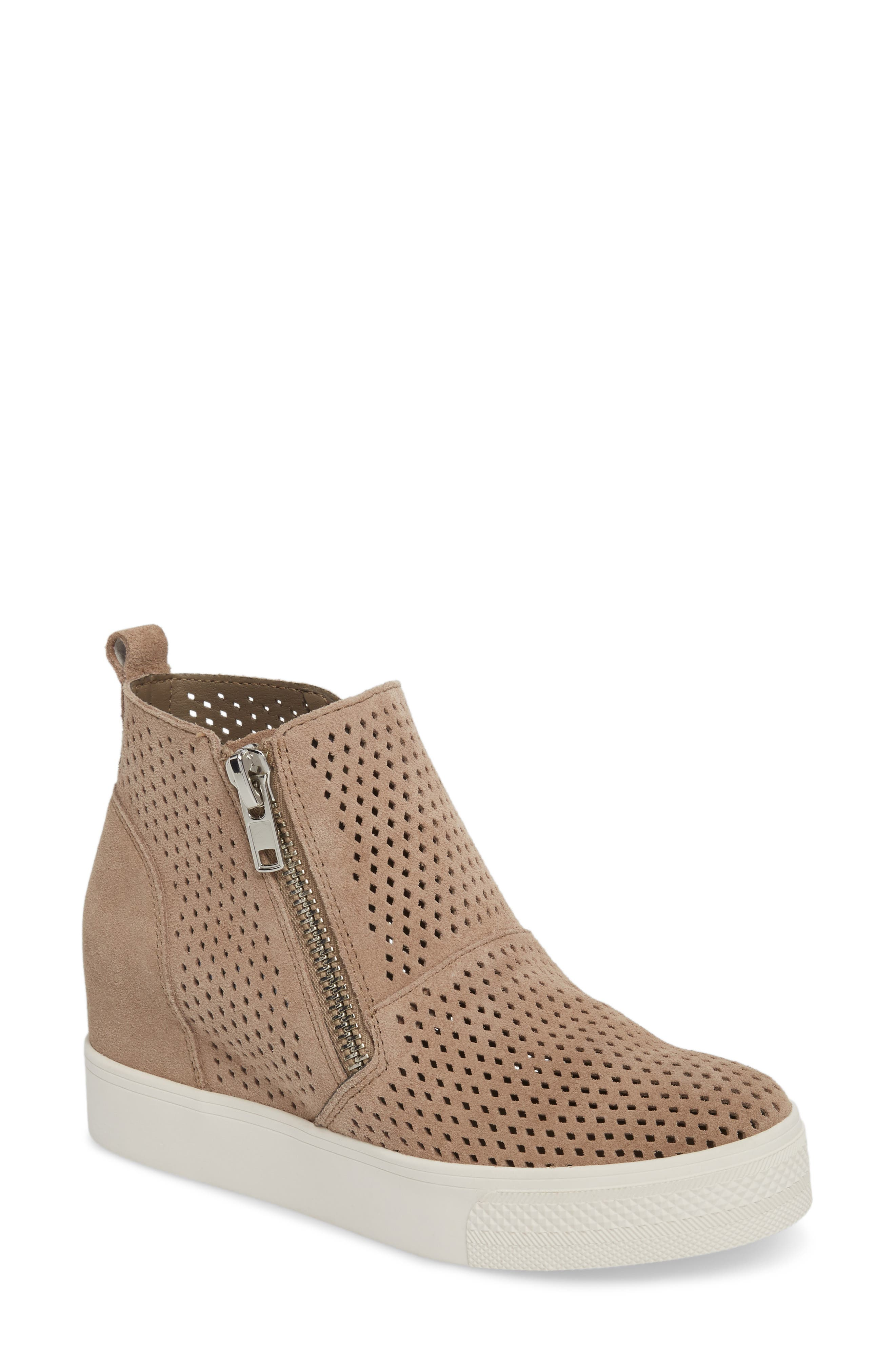 Wedgie High Top Platform Sneaker, Taupe