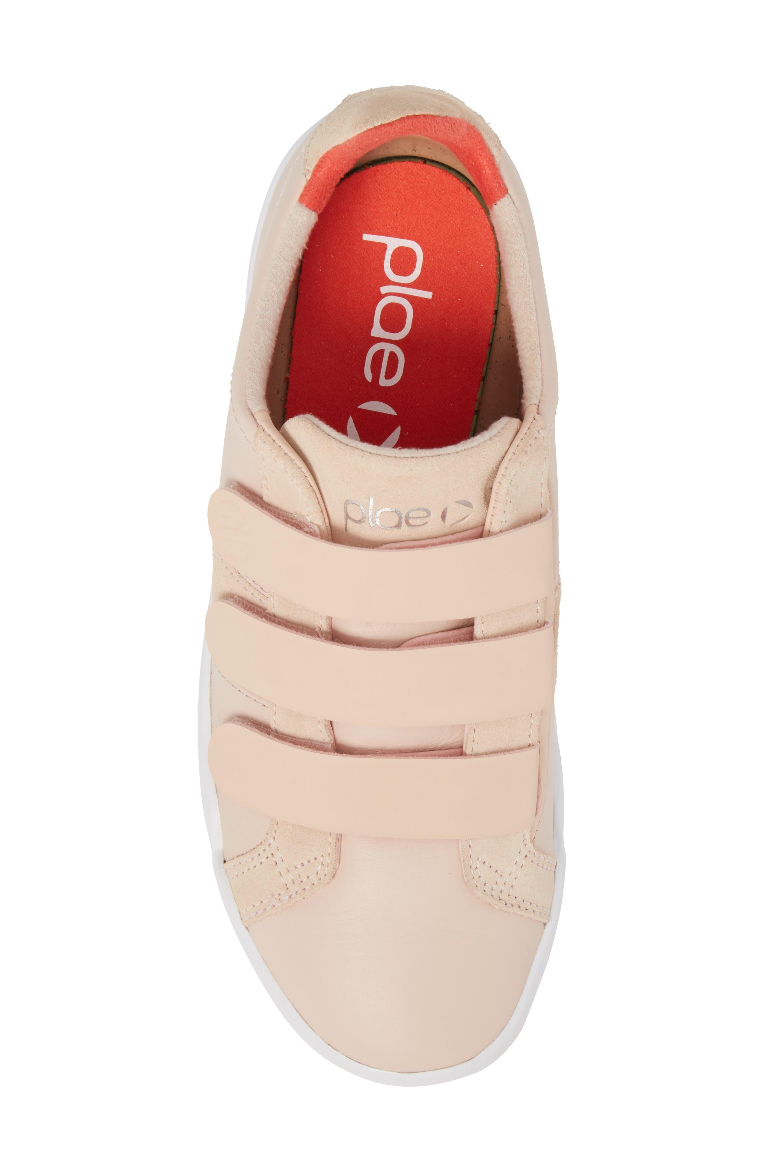 Larkin Sneaker,                             Alternate thumbnail 5, color,                             Cameo Rose Leather