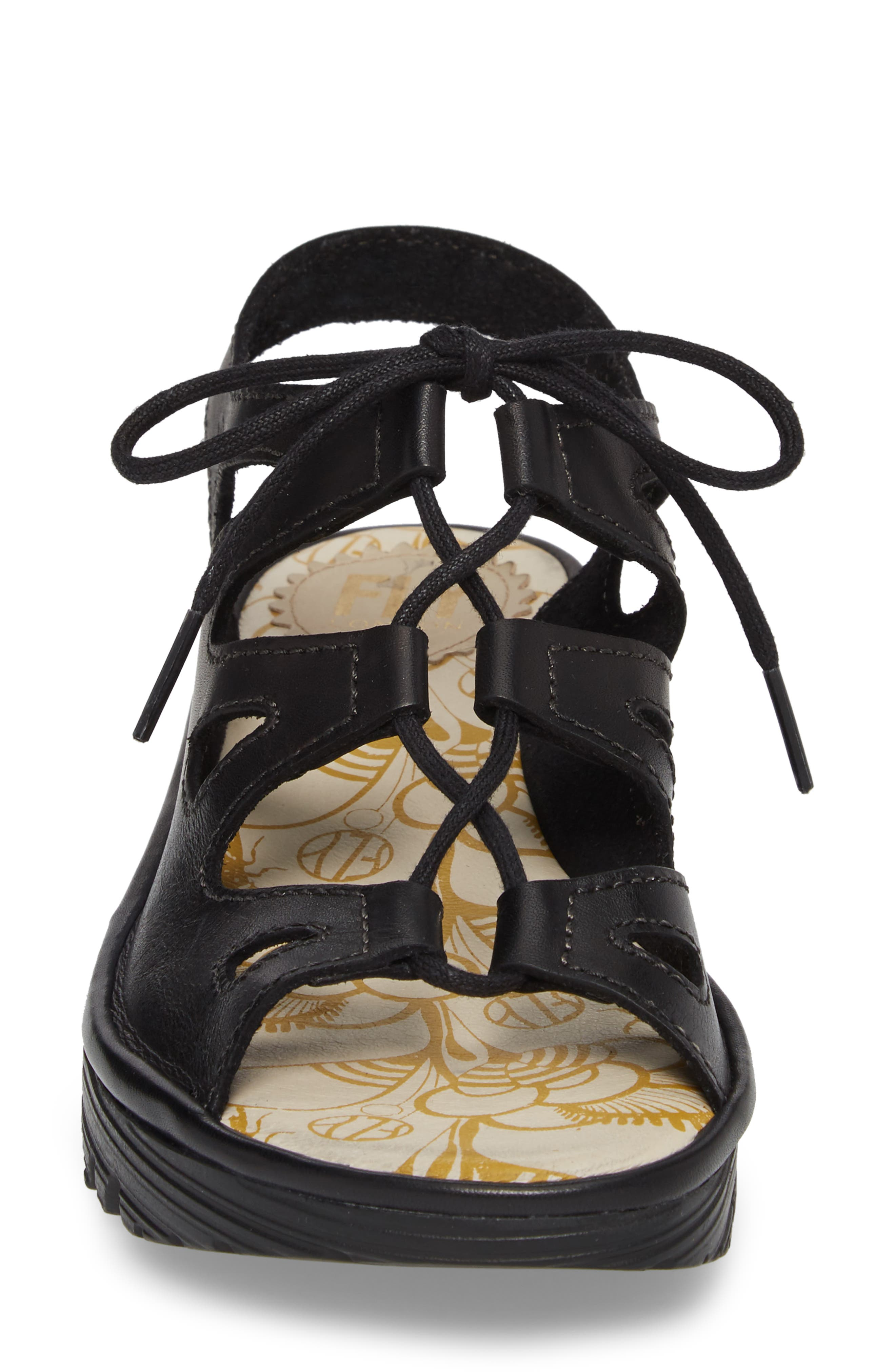 Exon Sandal,                             Alternate thumbnail 4, color,                             Black Colmar Leather