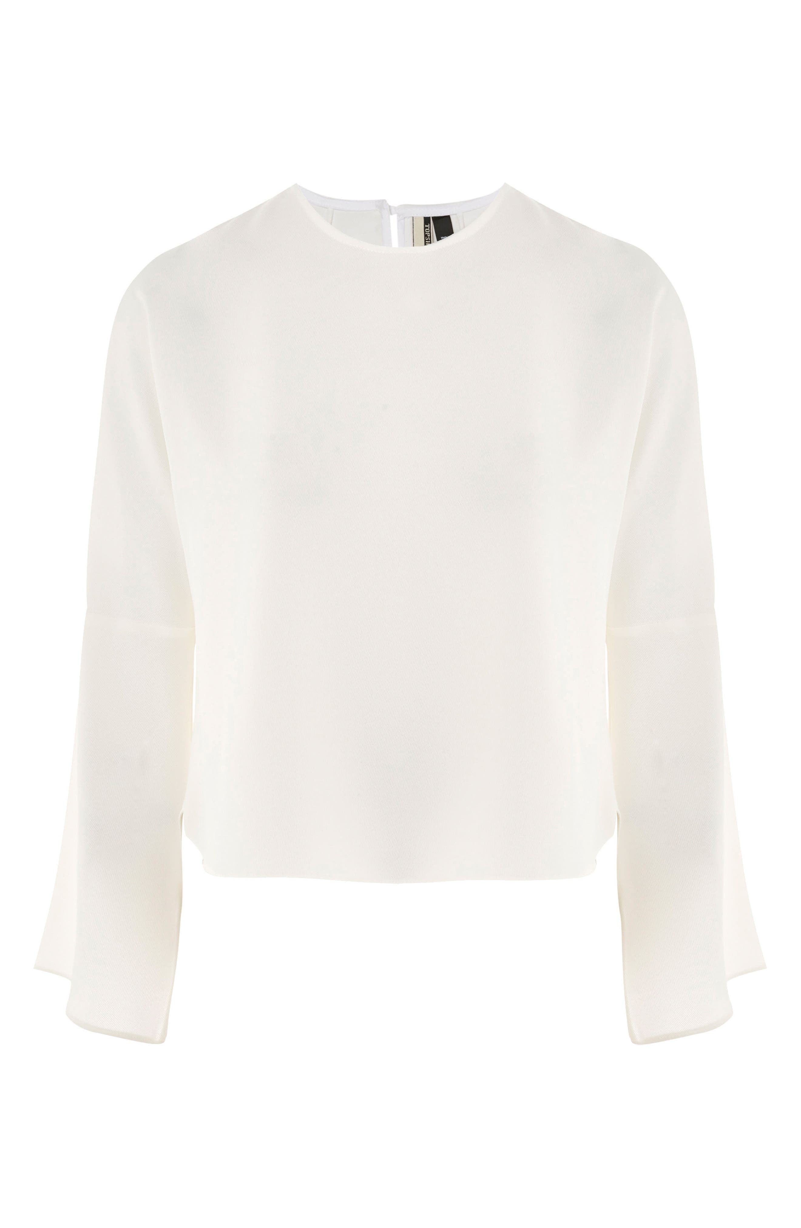 Split Sleeve Top,                             Alternate thumbnail 4, color,                             Ivory