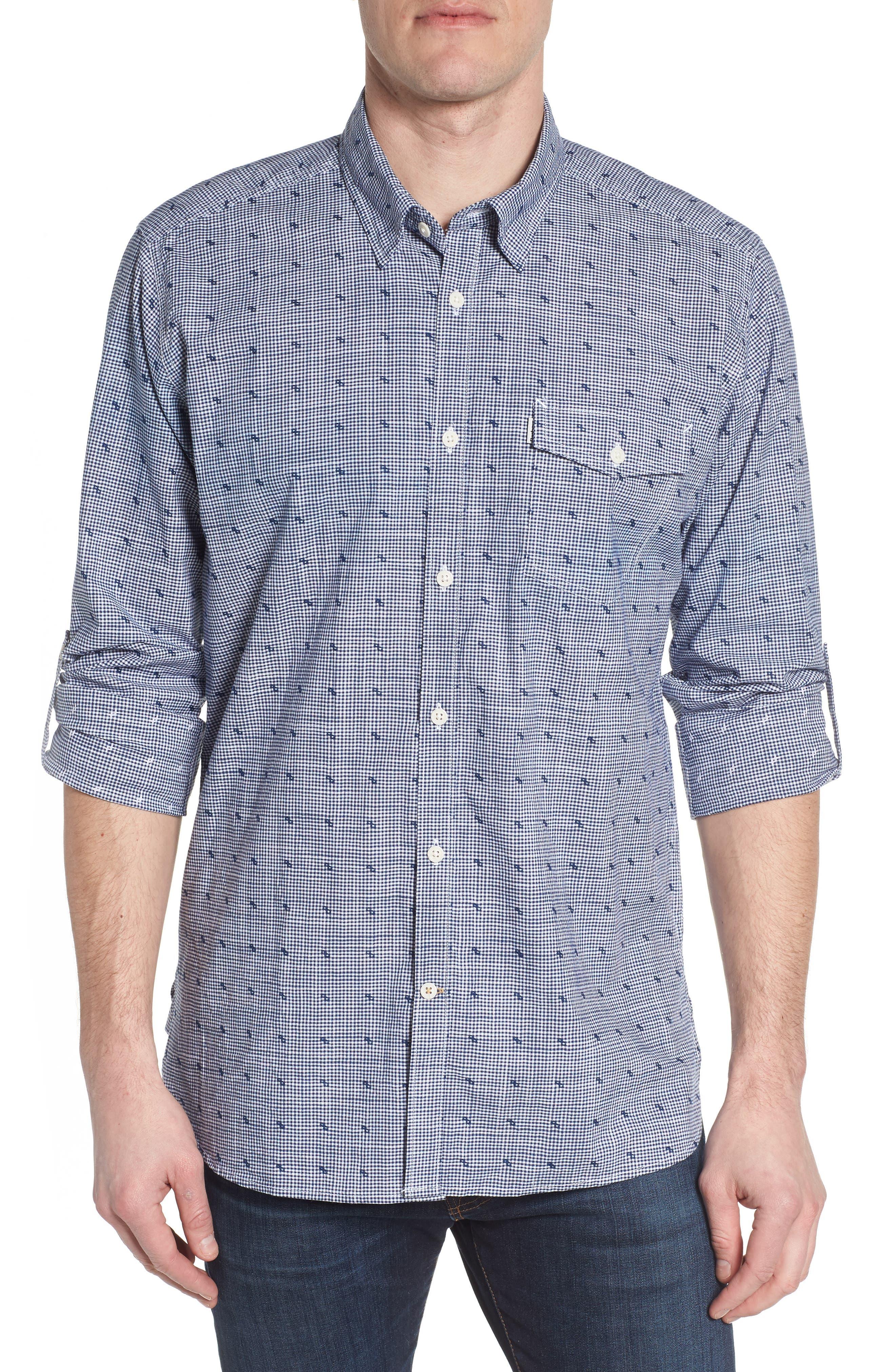 Beluga Regular Fit Check Sport Shirt,                             Main thumbnail 1, color,                             Navy