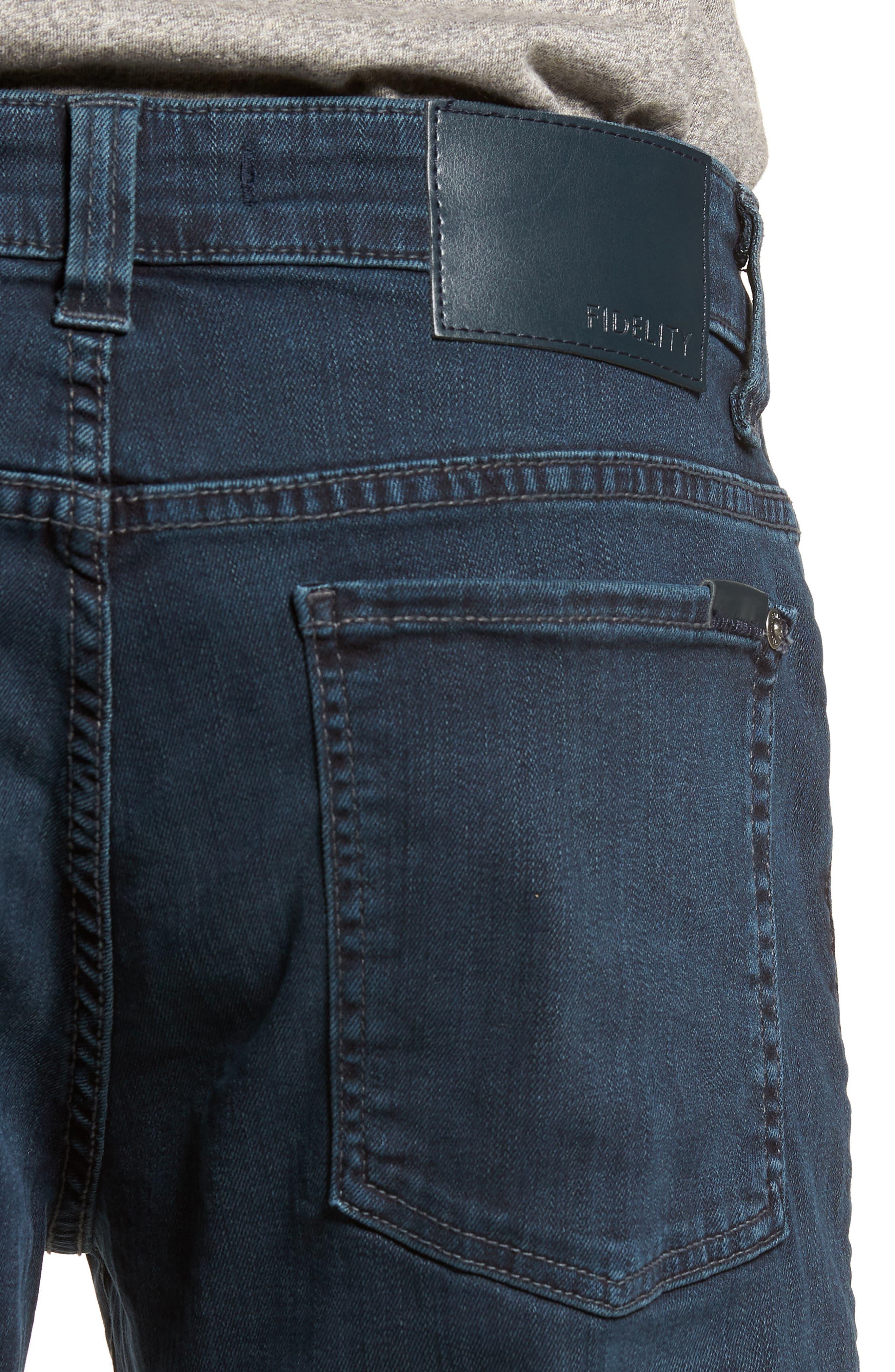 Alternate Image 4  - Fidelity Denim Torino Slim Fit Jeans (Manchester)