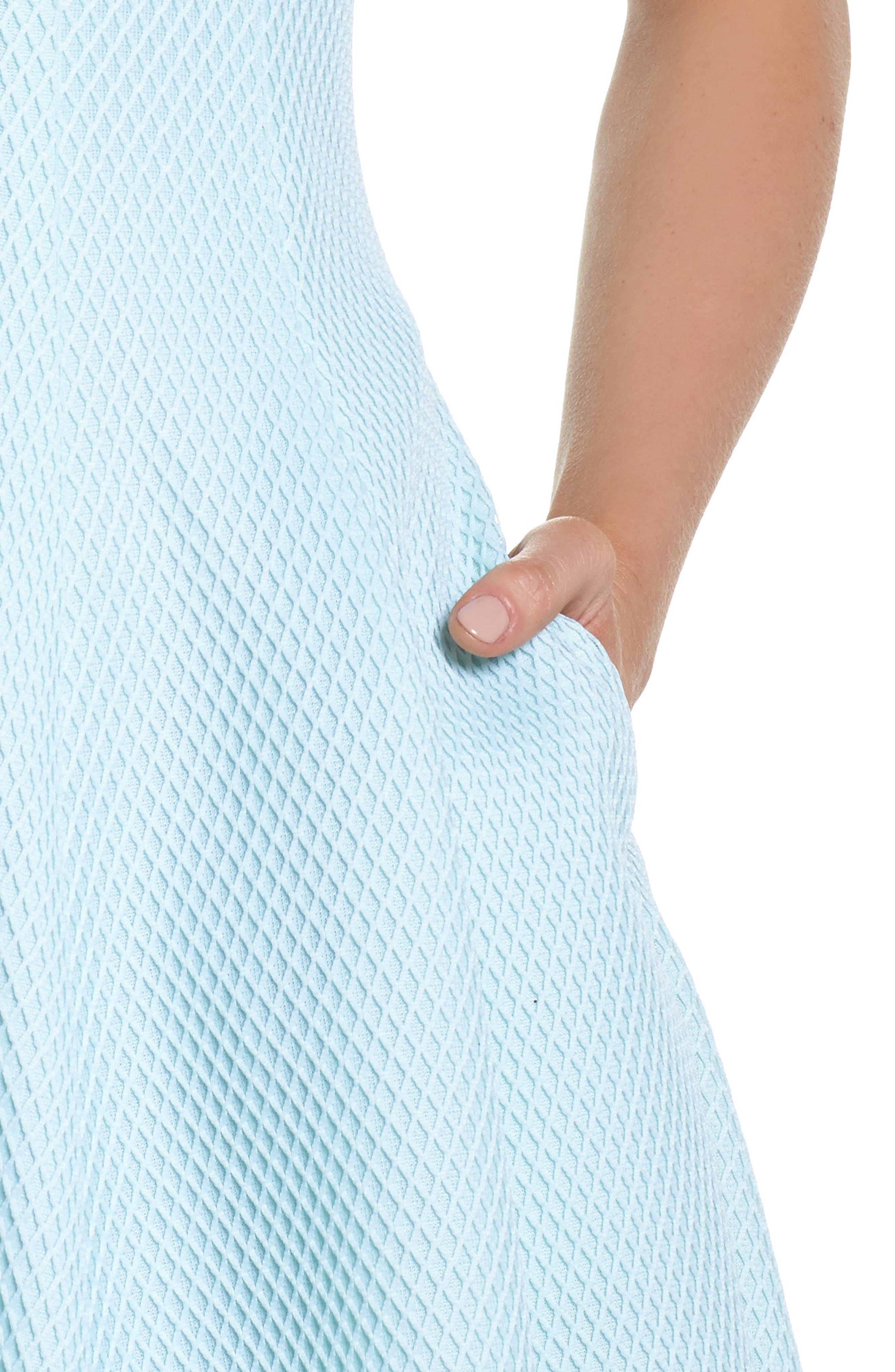 Fit & Flare Dress,                             Alternate thumbnail 4, color,                             Mint