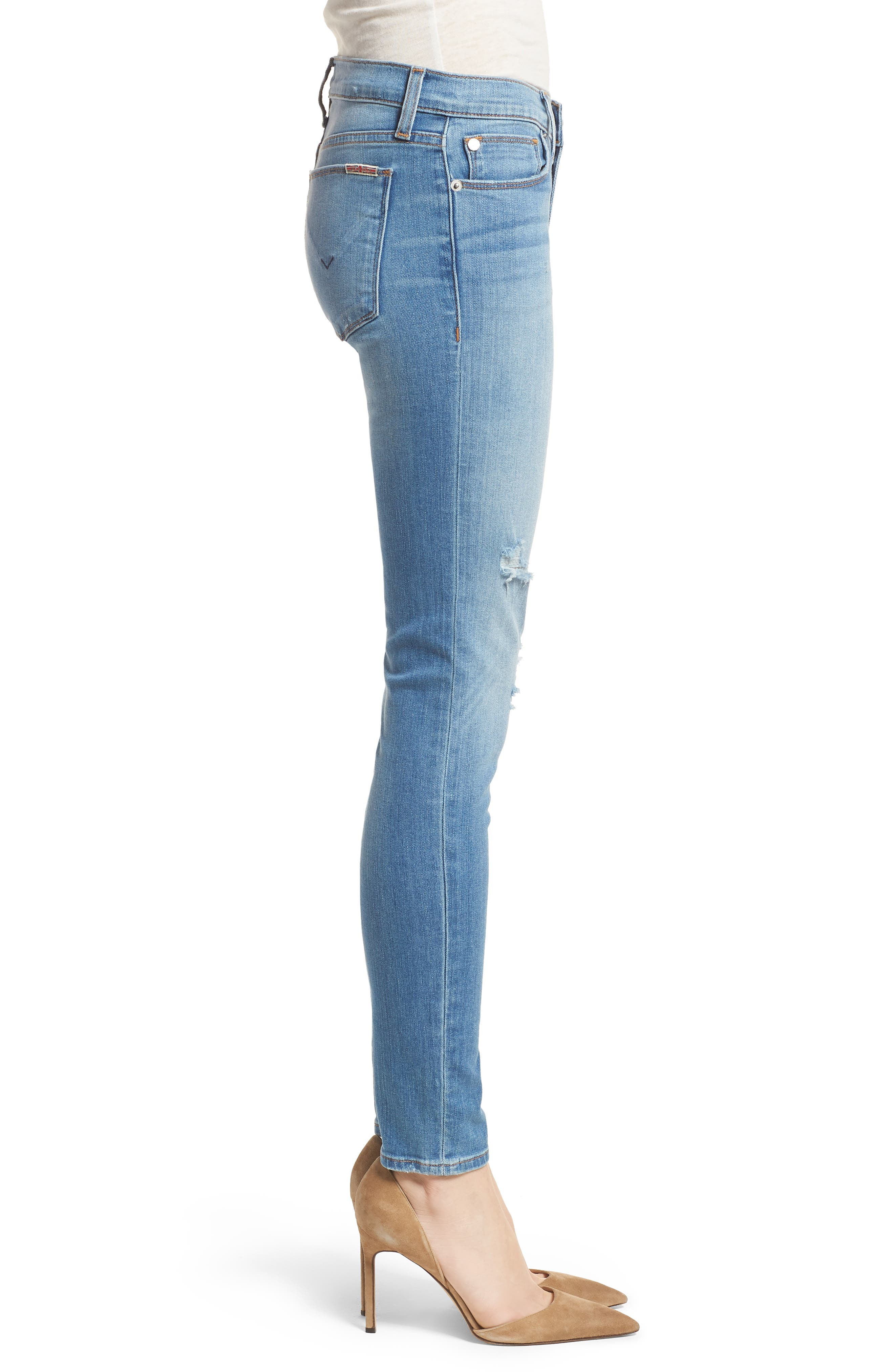 Krista Ankle Super Skinny Jeans,                             Alternate thumbnail 3, color,                             No Tears