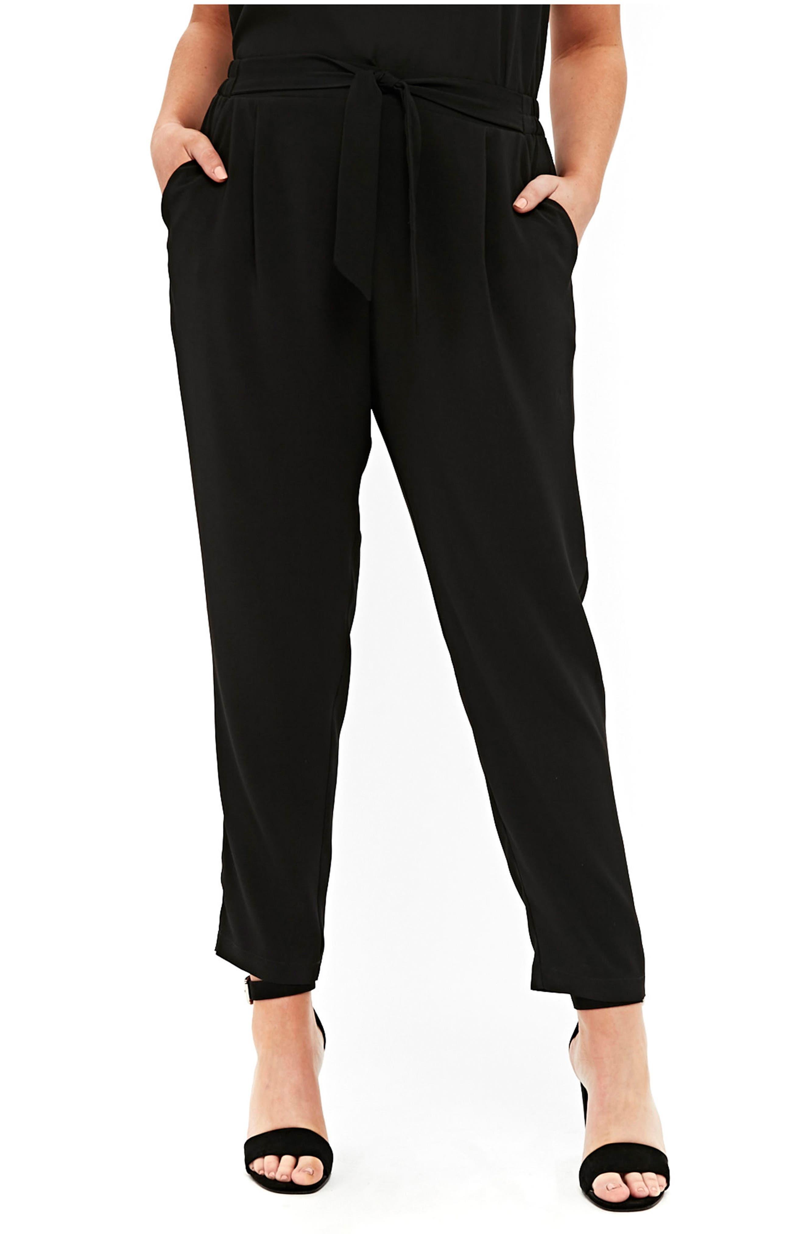 Ripple Tapered Pants,                             Main thumbnail 1, color,                             Black