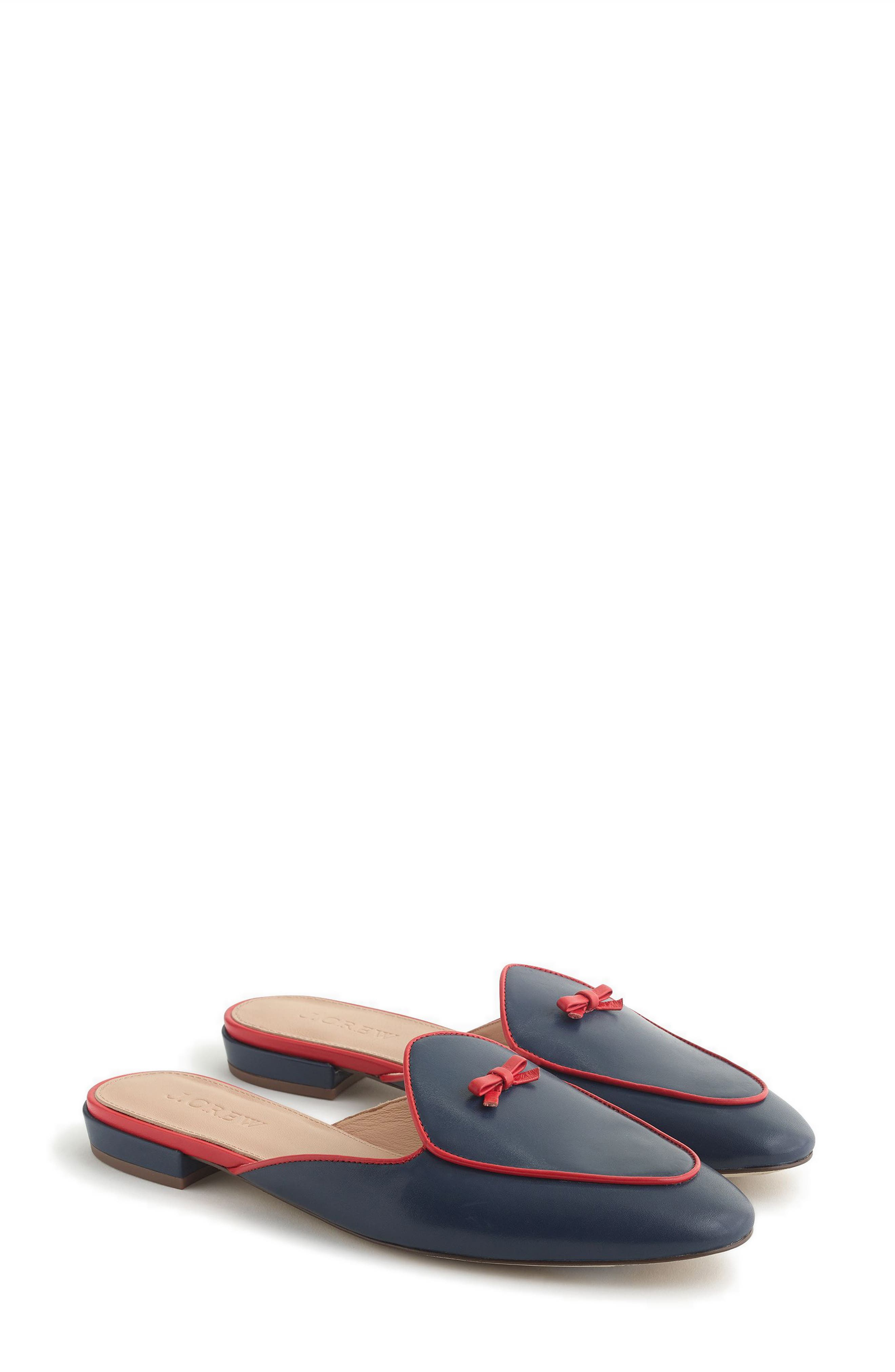 Loafer Mule,                             Main thumbnail 1, color,                             Bright Indigo Leather