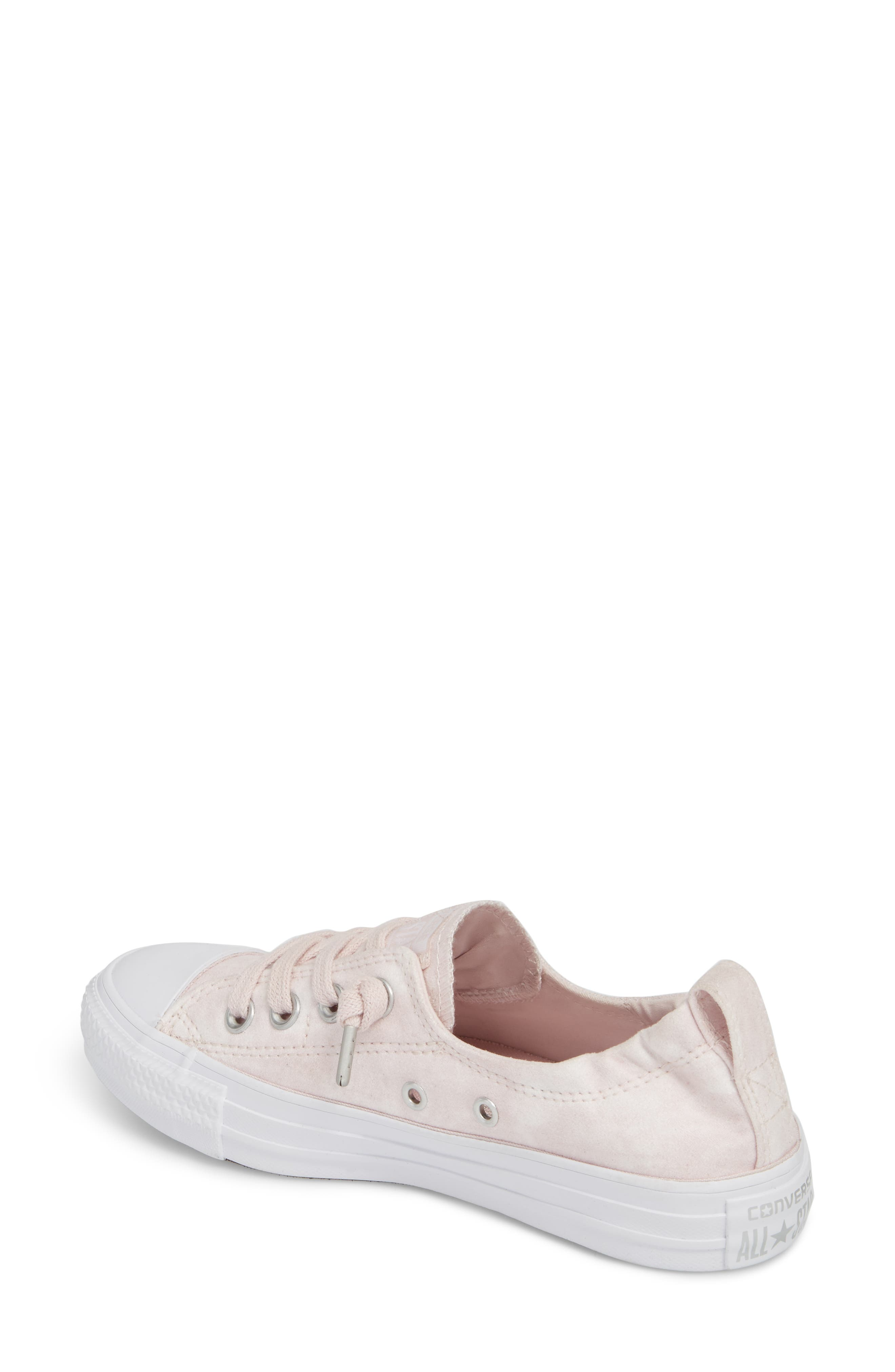 Chuck Taylor<sup>®</sup> All Star<sup>®</sup> Shoreline Peached Twill Sneaker,                             Alternate thumbnail 2, color,                             Barely Rose
