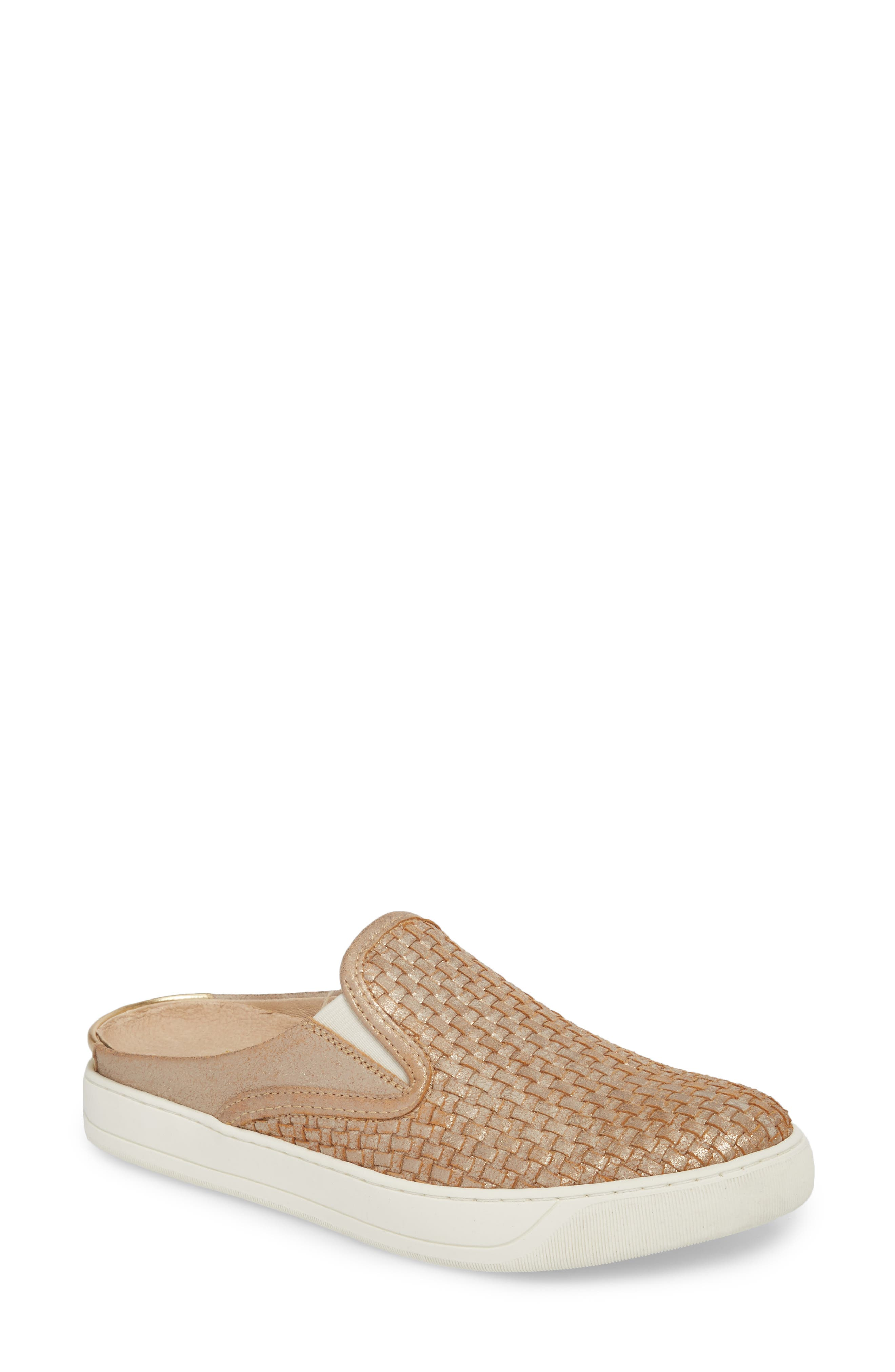 Evie Slip-On Sneaker,                         Main,                         color, Gold Leather