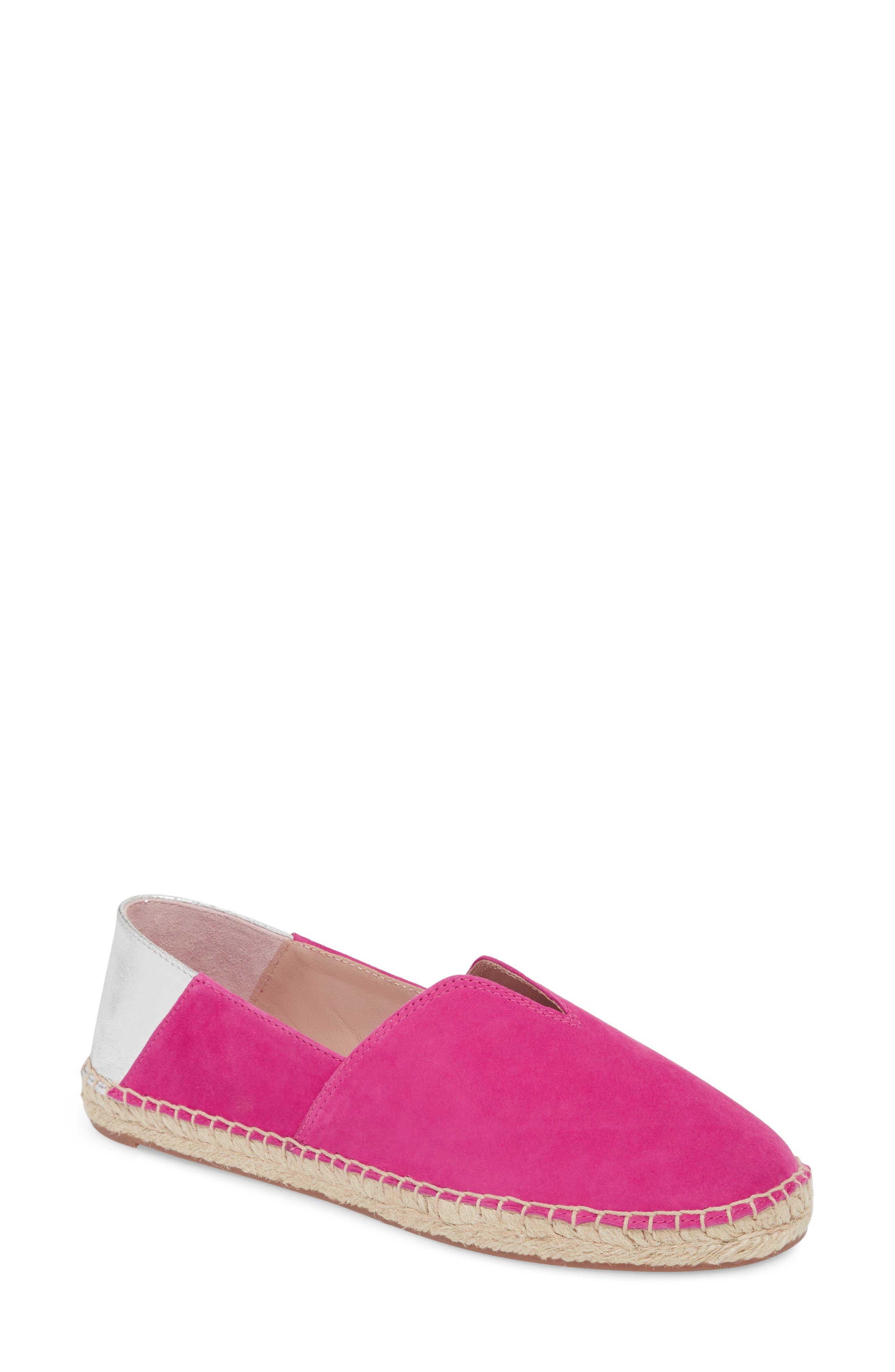 Ilene Slip-On Flat,                         Main,                         color, Posey Suede