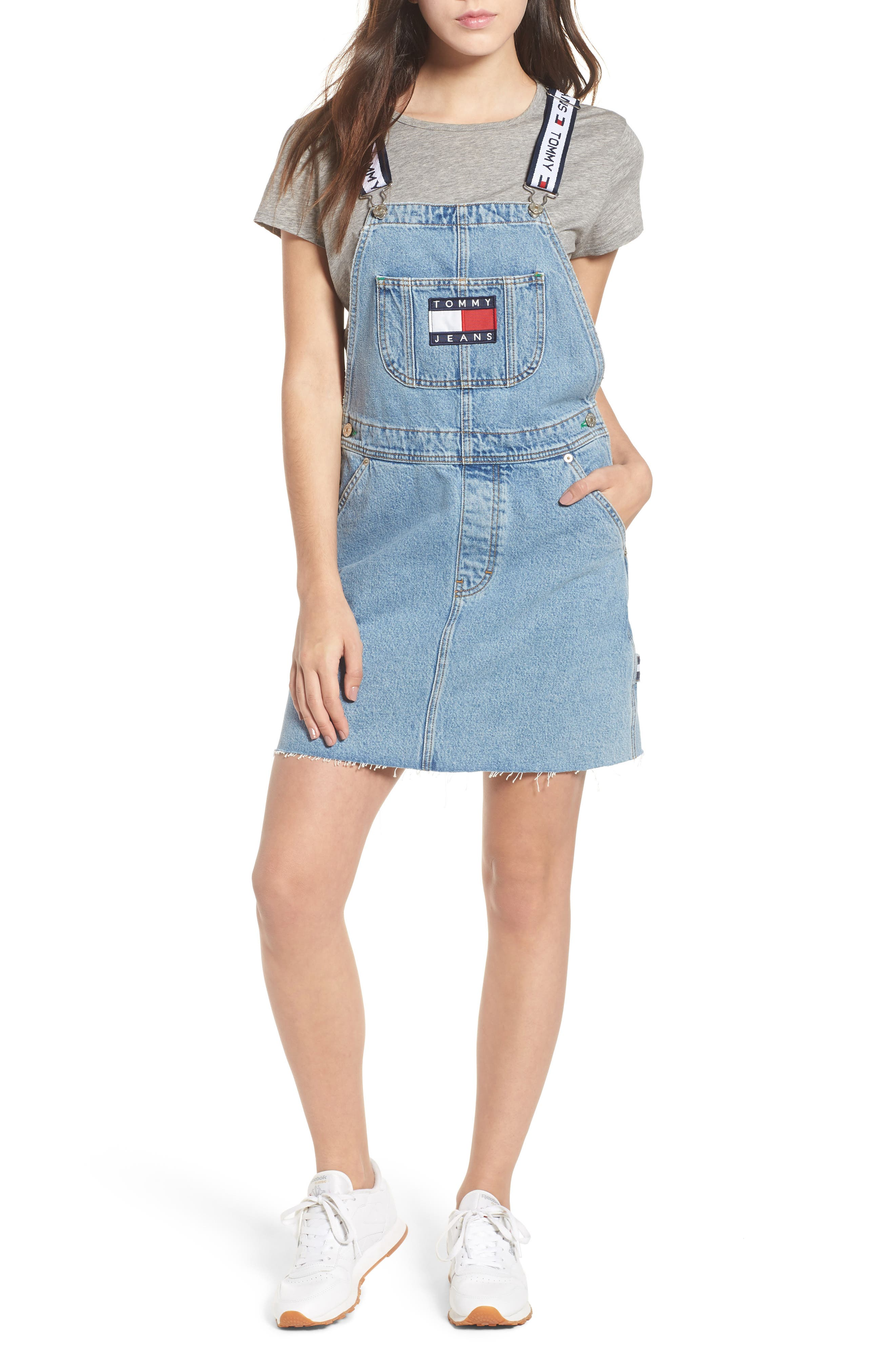 Dunagree Dress,                             Main thumbnail 1, color,                             Light Denim Blue