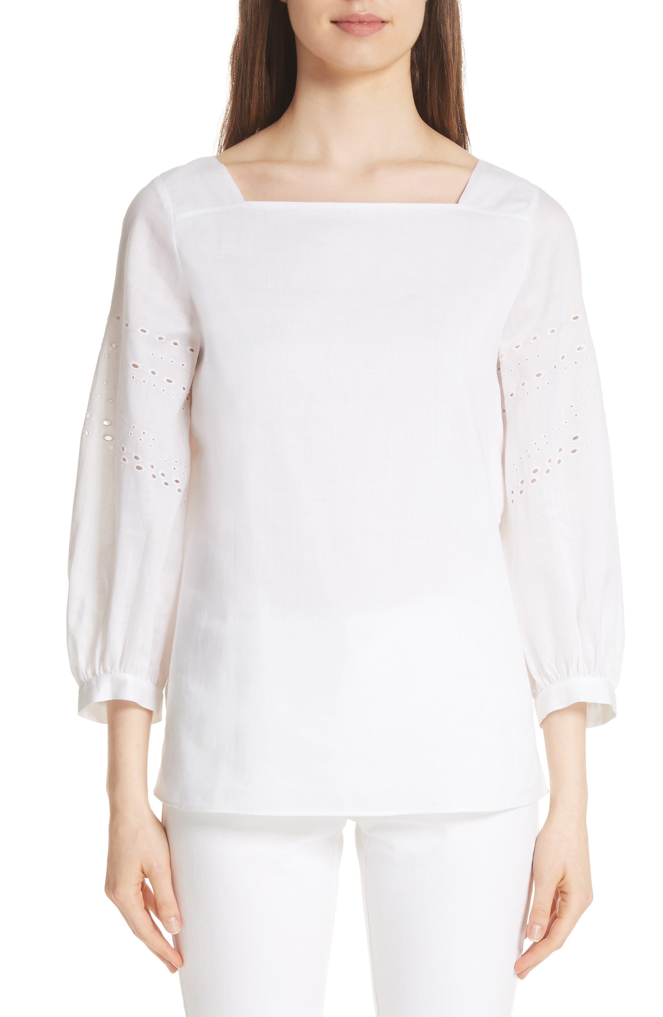 Harper Gemma Cloth Blouse,                         Main,                         color, White