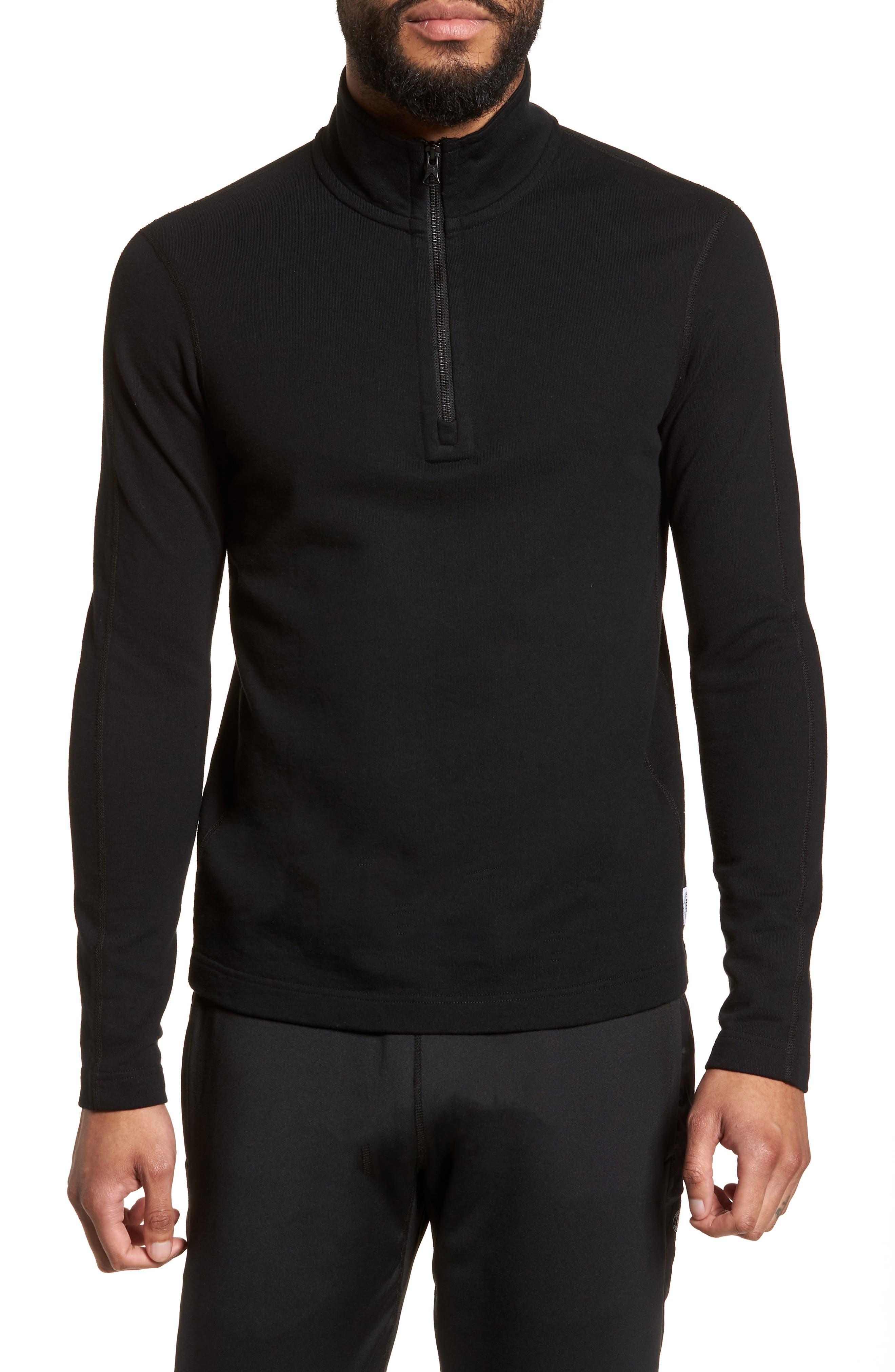 Half Zip Pullover,                         Main,                         color, Black