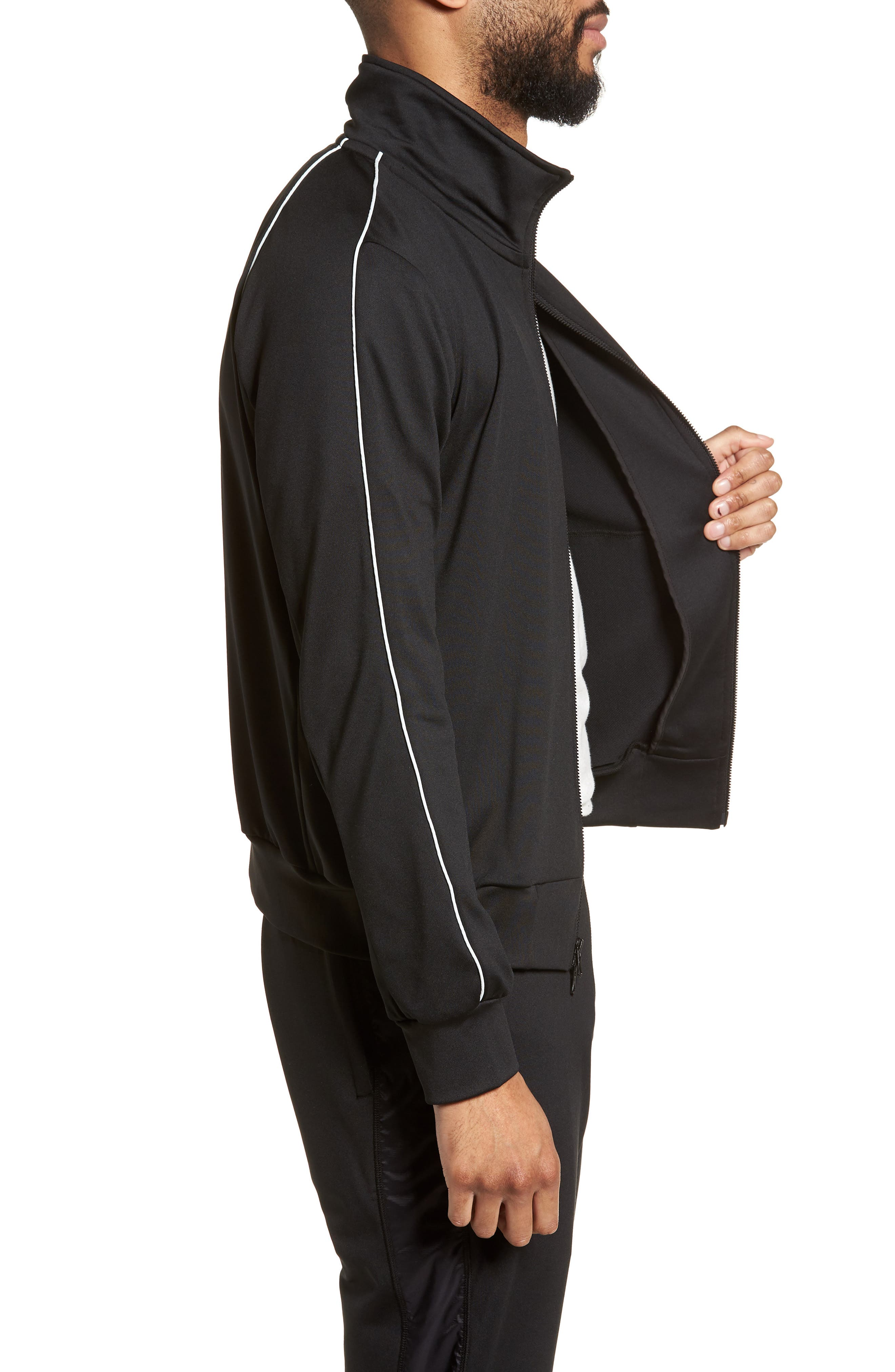 CoolMax<sup>®</sup> Track Jacket,                             Alternate thumbnail 3, color,                             Black