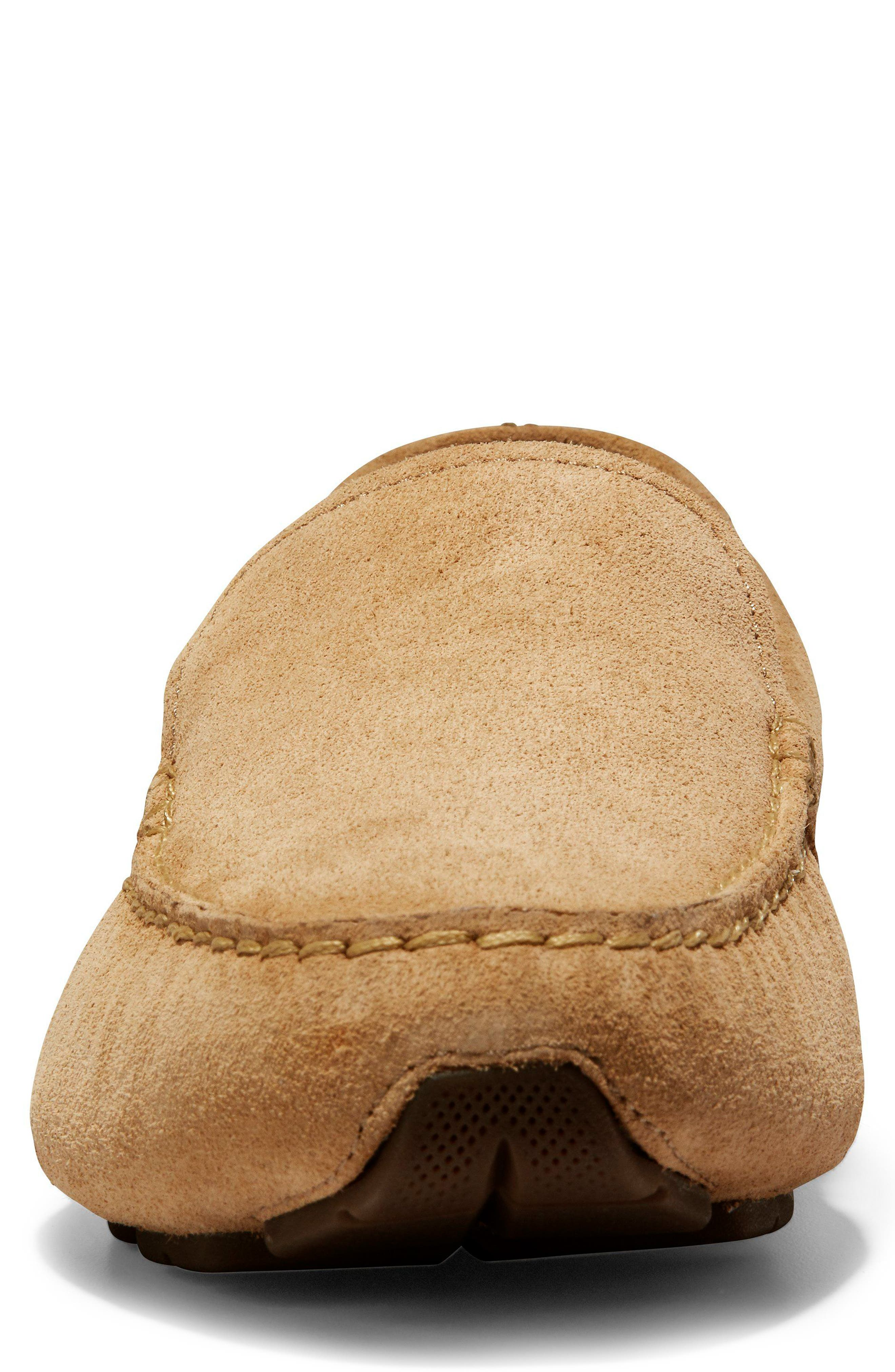 Branson Driving Shoe,                             Alternate thumbnail 4, color,                             Iced Coffee Suede