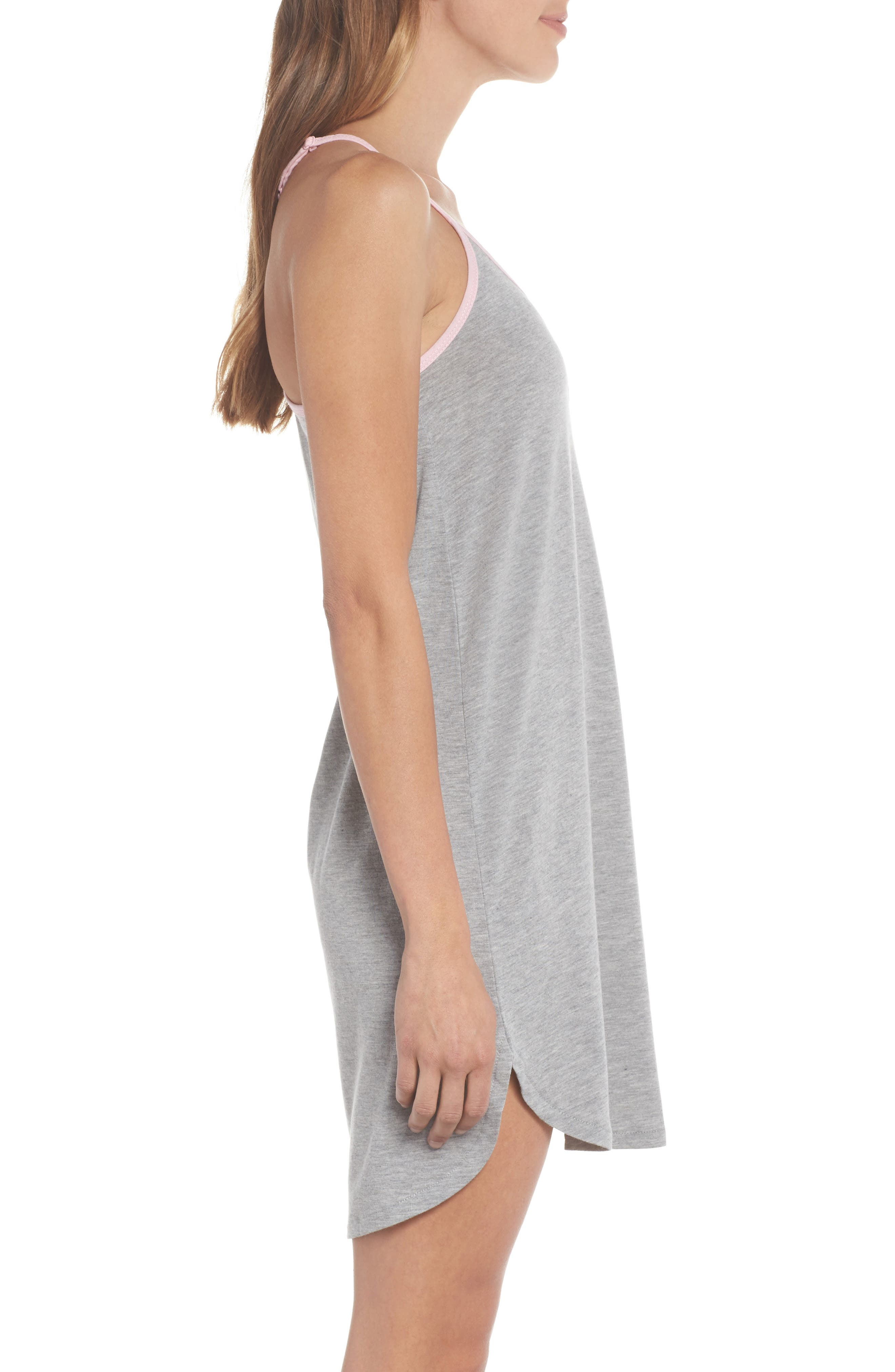 Jersey Chemise,                             Alternate thumbnail 3, color,                             H Grey