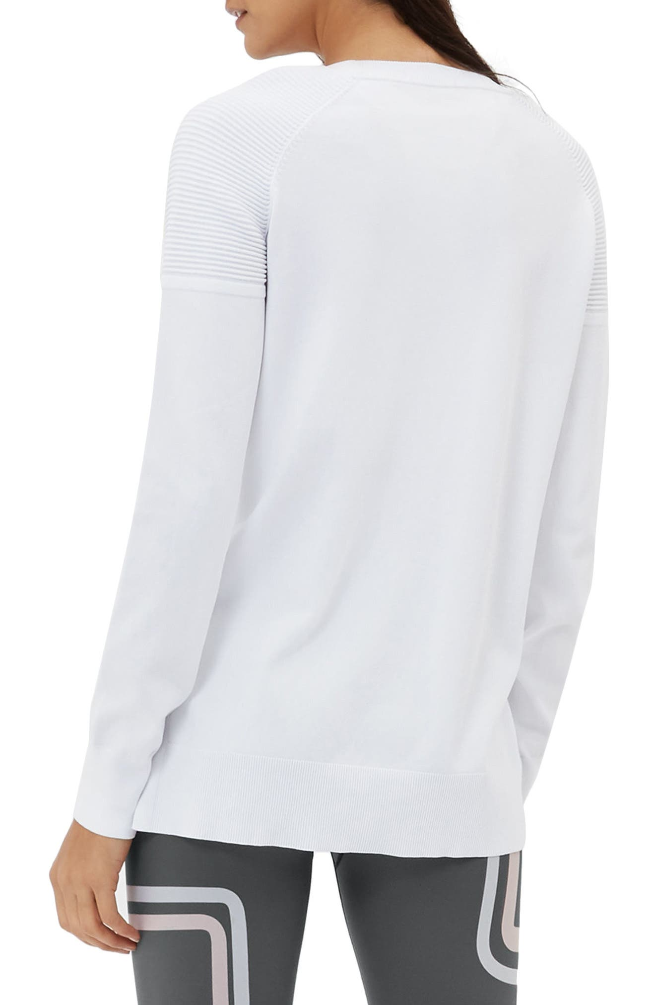 8 Track Sweatshirt,                             Alternate thumbnail 2, color,                             White