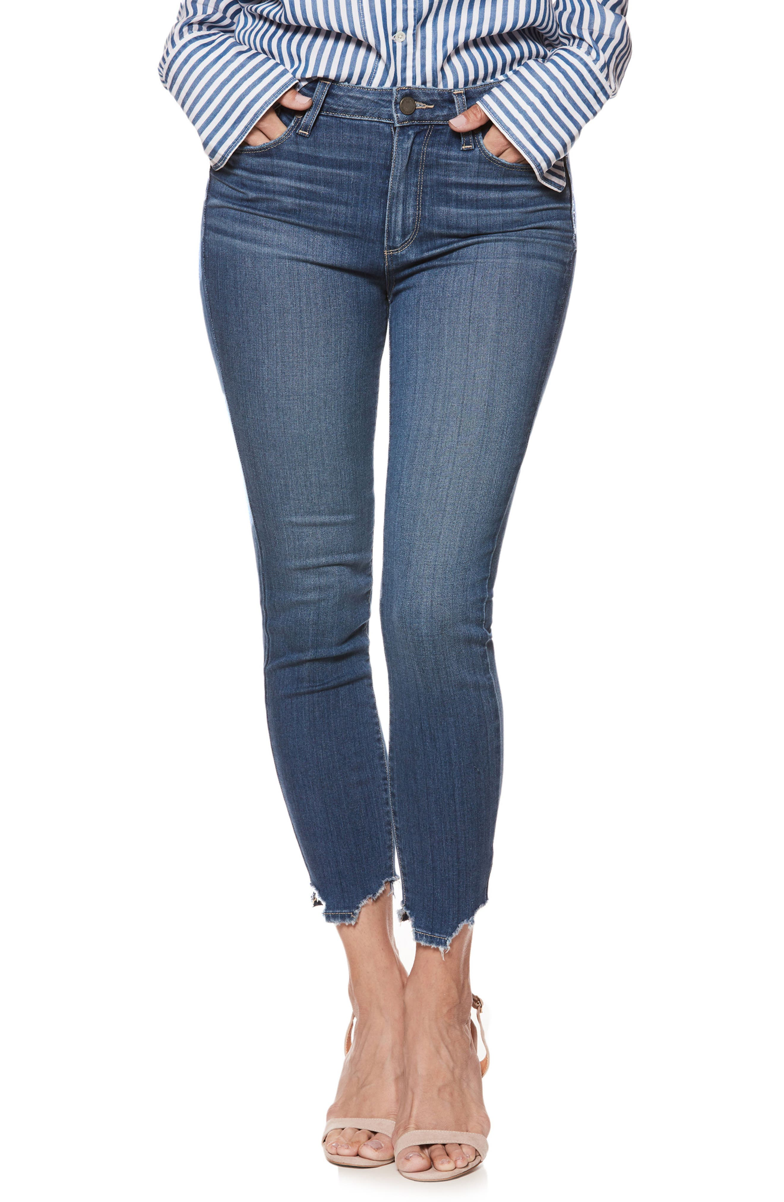 Transcend - Hoxton High Waist Crop Skinny Jeans,                         Main,                         color, Lived In Henderson