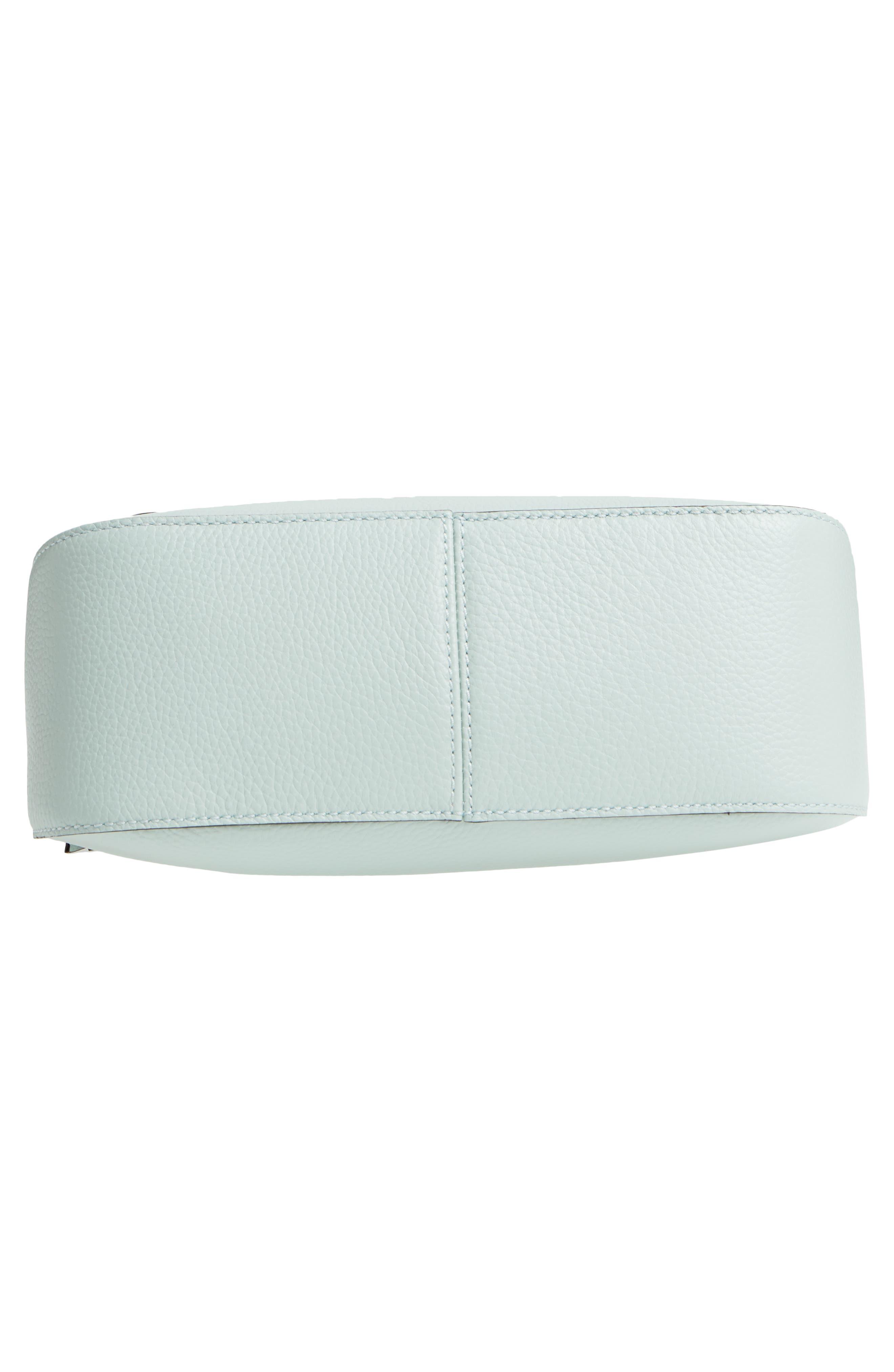 jackson street - colette leather satchel,                             Alternate thumbnail 6, color,                             Misty Mint