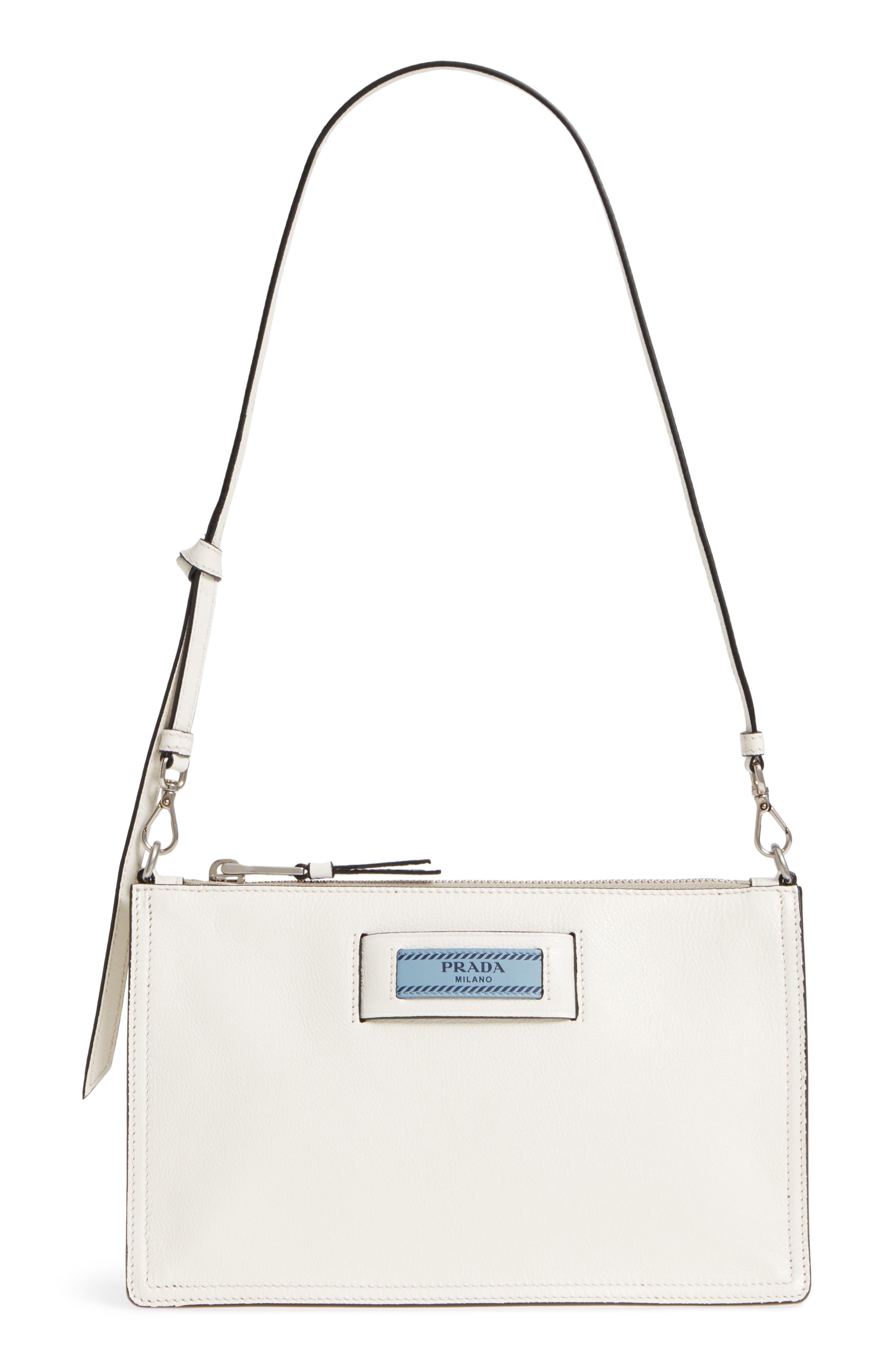 Prada Etiquette Calfskin Shoulder Bag