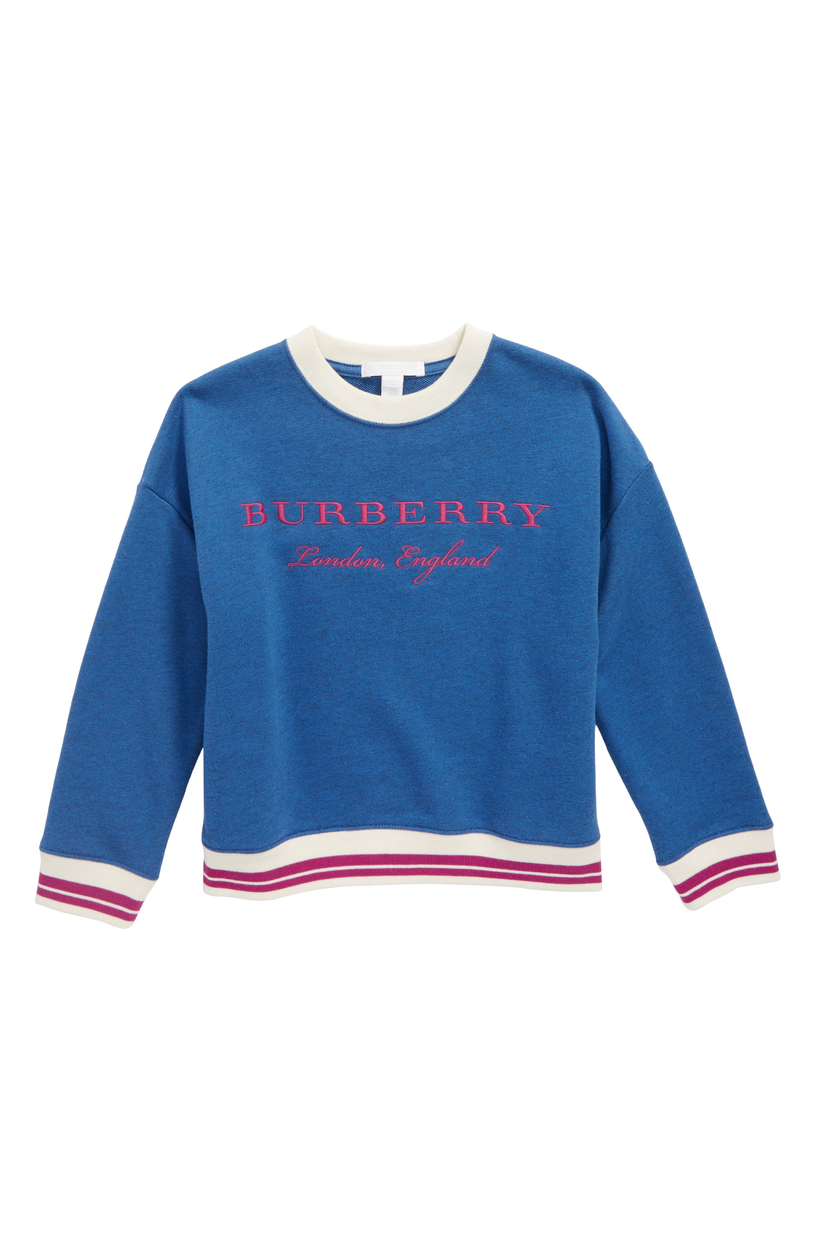 Burberry Eli Stripe Jersey Sweatshirt (Little Girls & Big Girls)