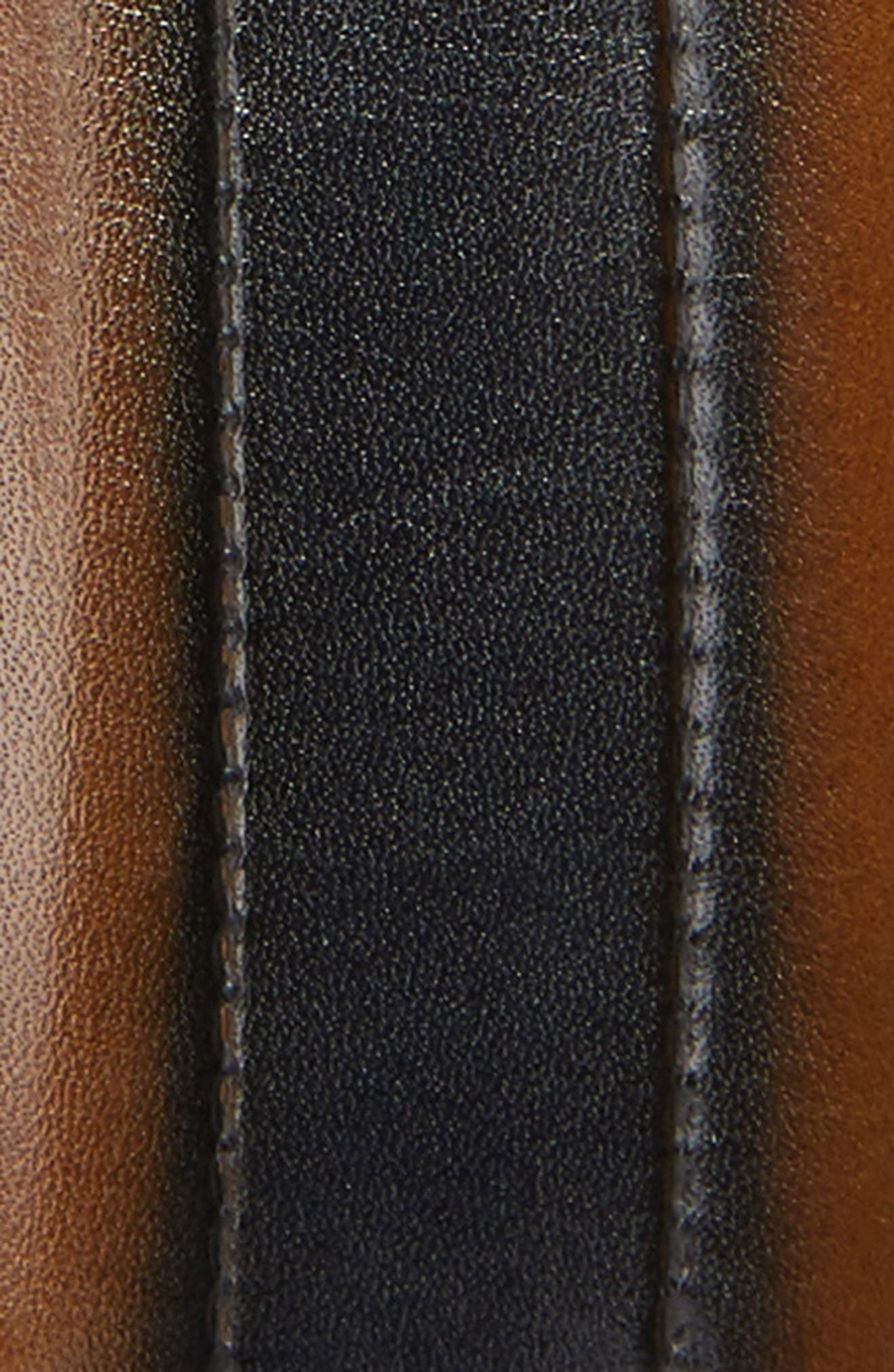 Palma Leather Belt,                             Alternate thumbnail 2, color,                             Tan/ Blue