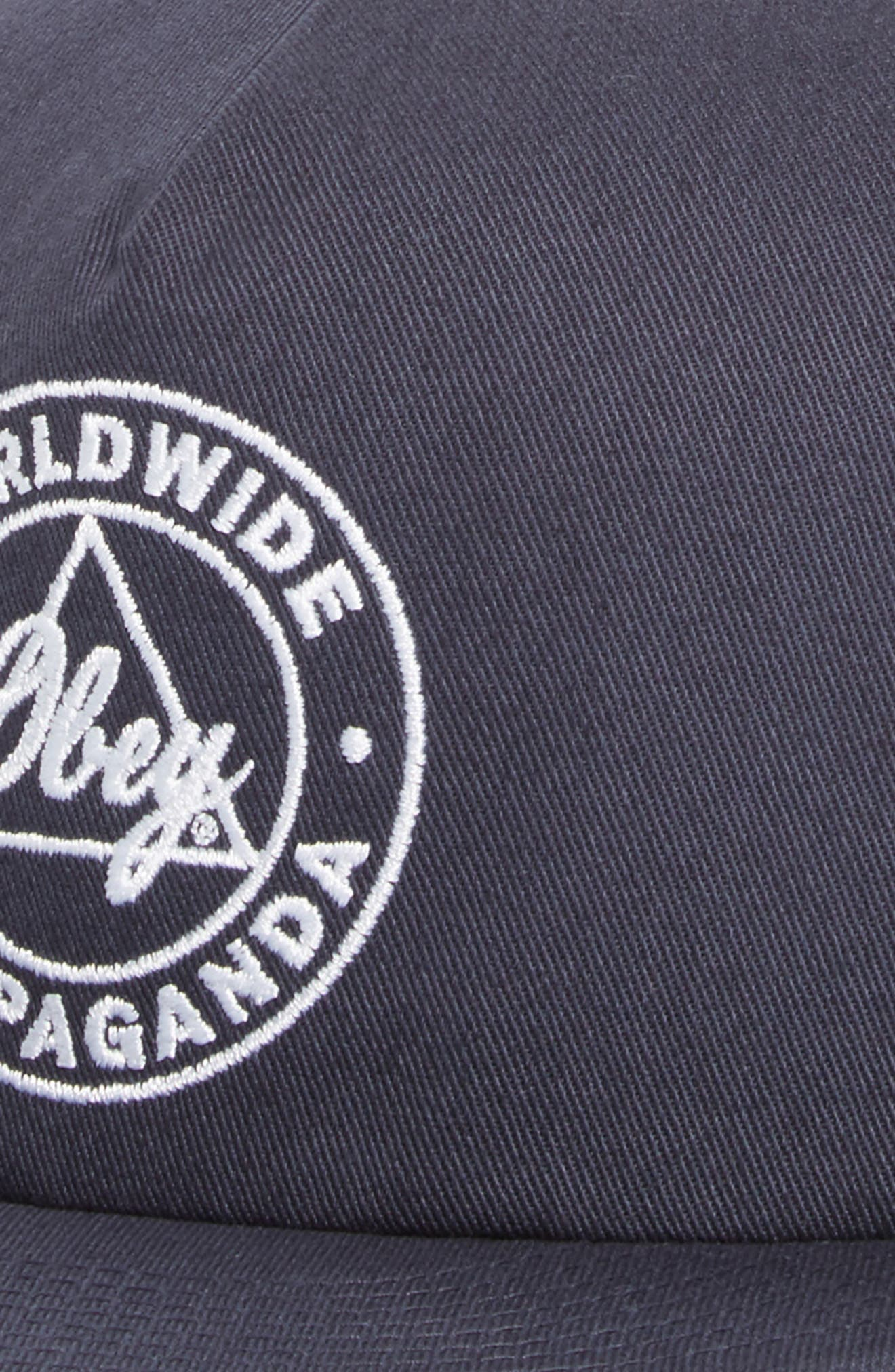 Worldwide Propaganda II Snapback Cap,                             Alternate thumbnail 3, color,                             Navy