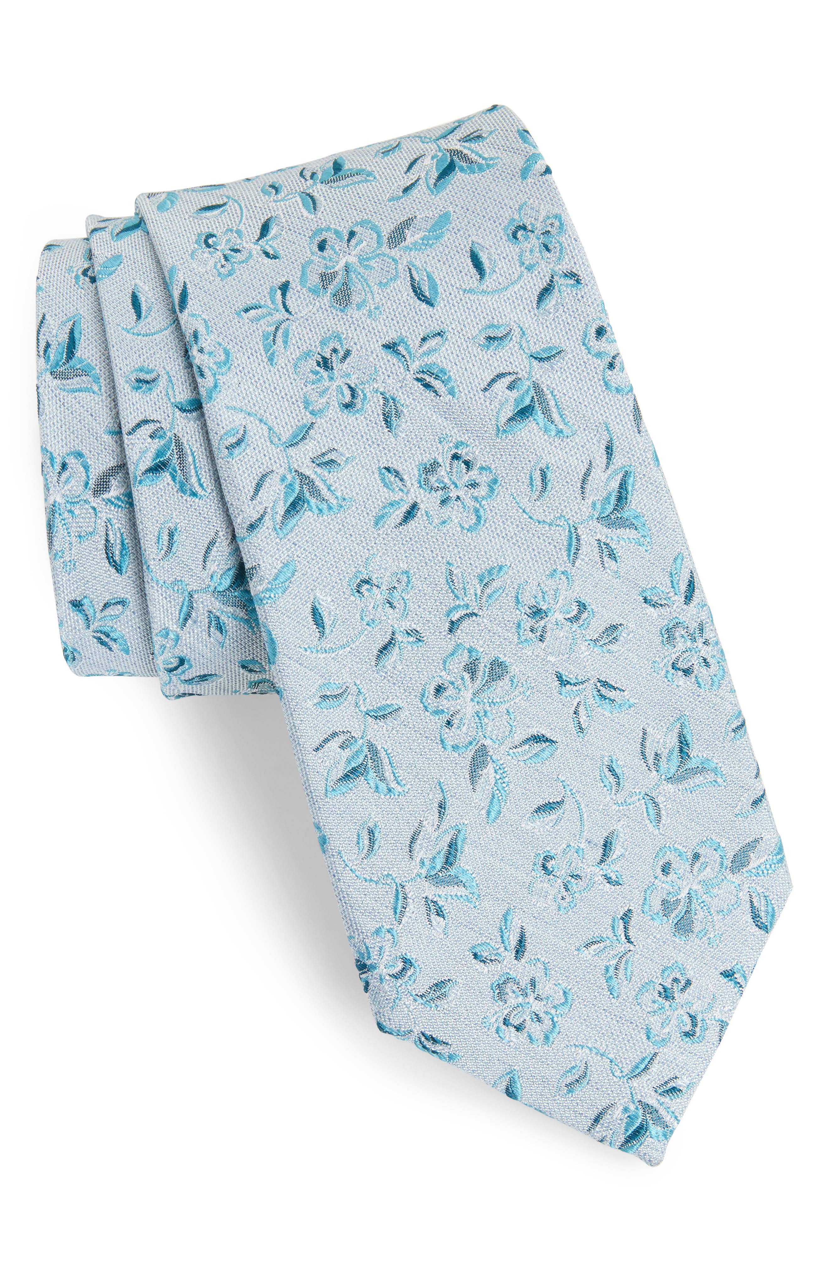Collins Floral Silk Tie,                             Main thumbnail 1, color,                             Collins Floral