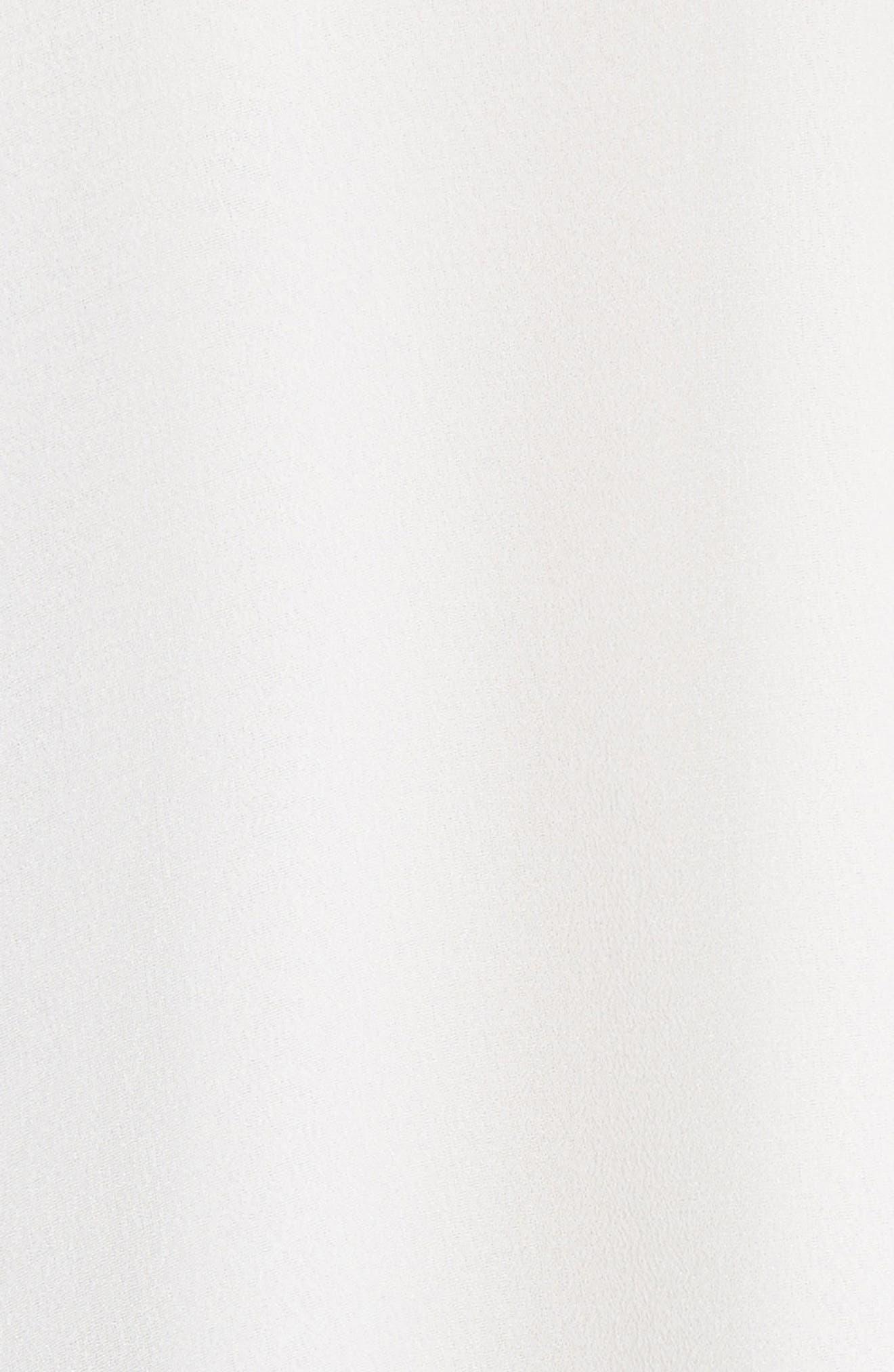Blayne Cold Shoulder Silk Blouse,                             Alternate thumbnail 5, color,                             Off White