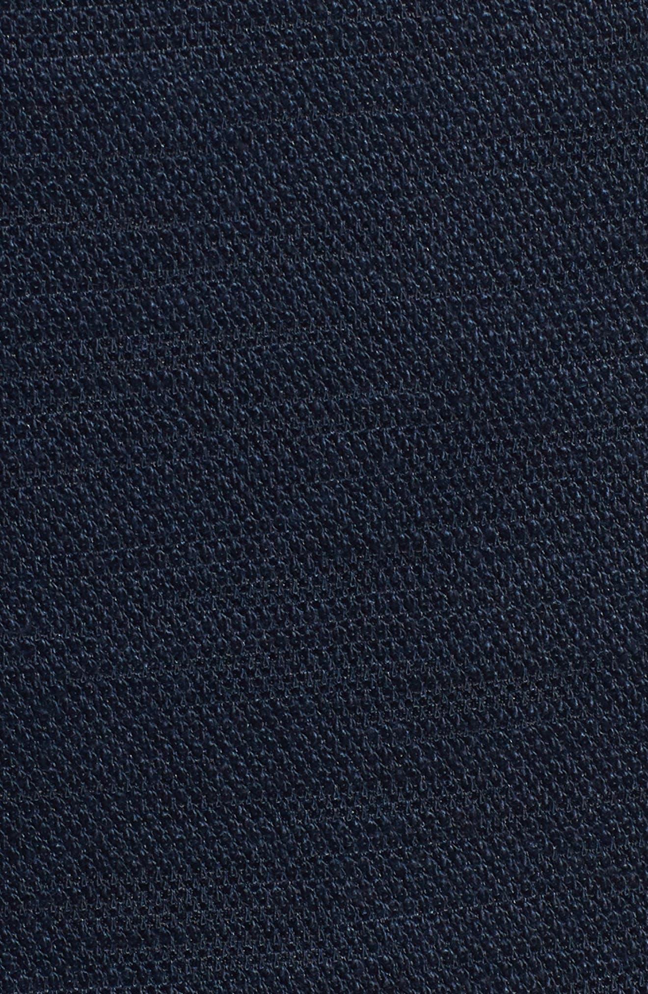 Fender Trim Fit Knit Blazer,                             Alternate thumbnail 5, color,                             Navy