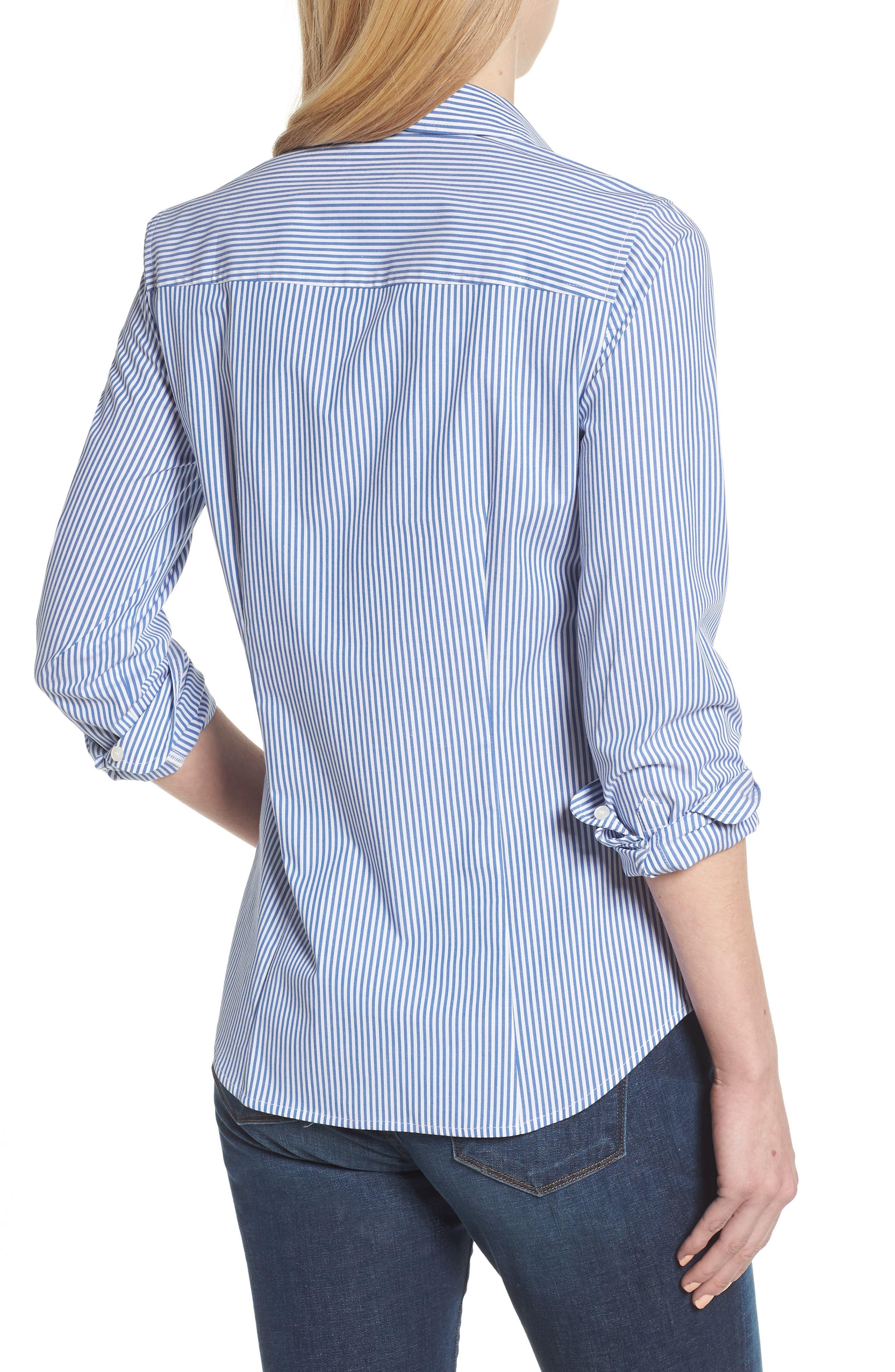 Alternate Image 3  - J.Crew Perfect Classic Stripe Stretch Cotton Shirt (Regular & Petite)