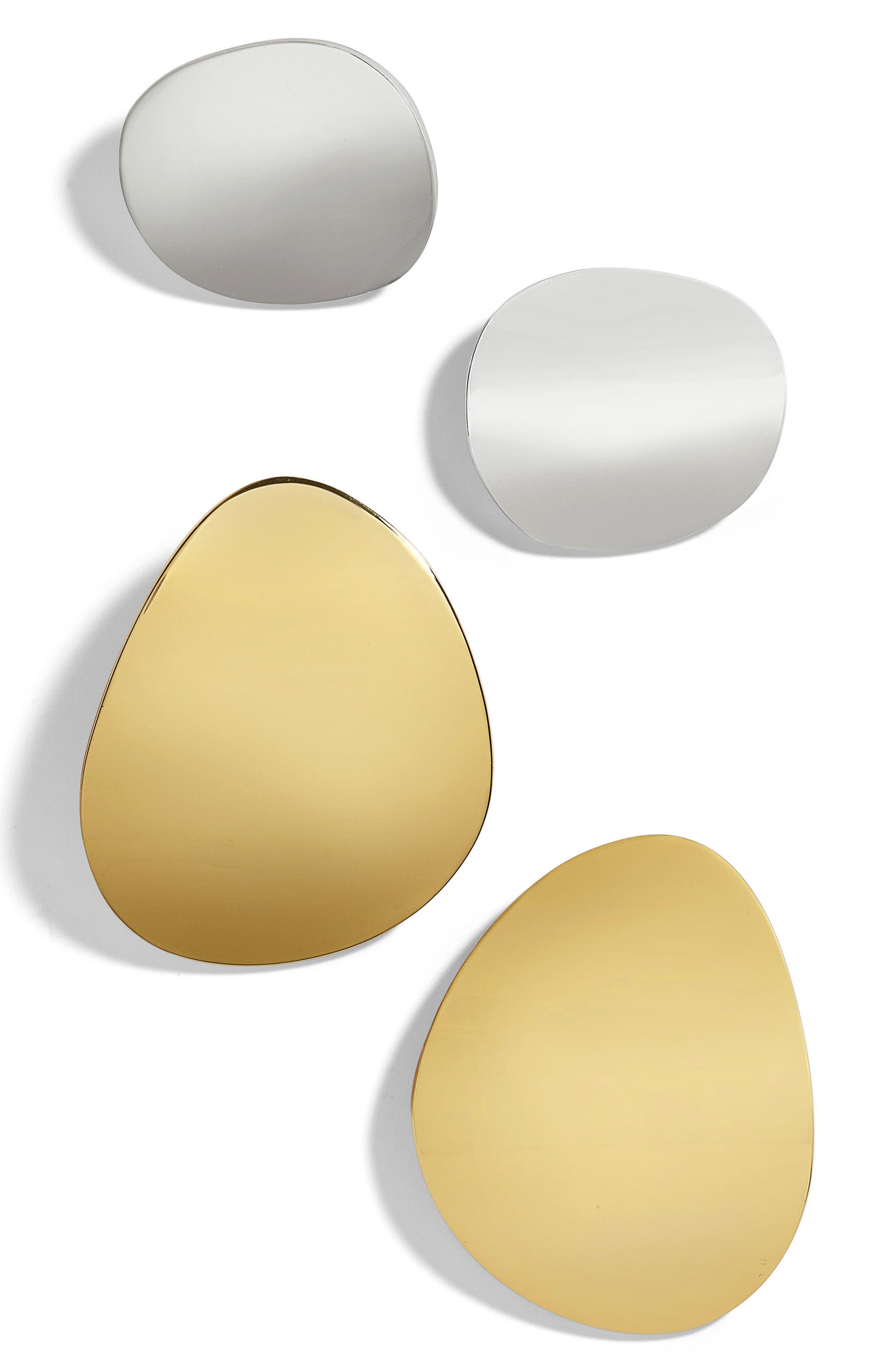 BaubleBar Ronia Set of 2 Organic Metal Statement Stud Earrings