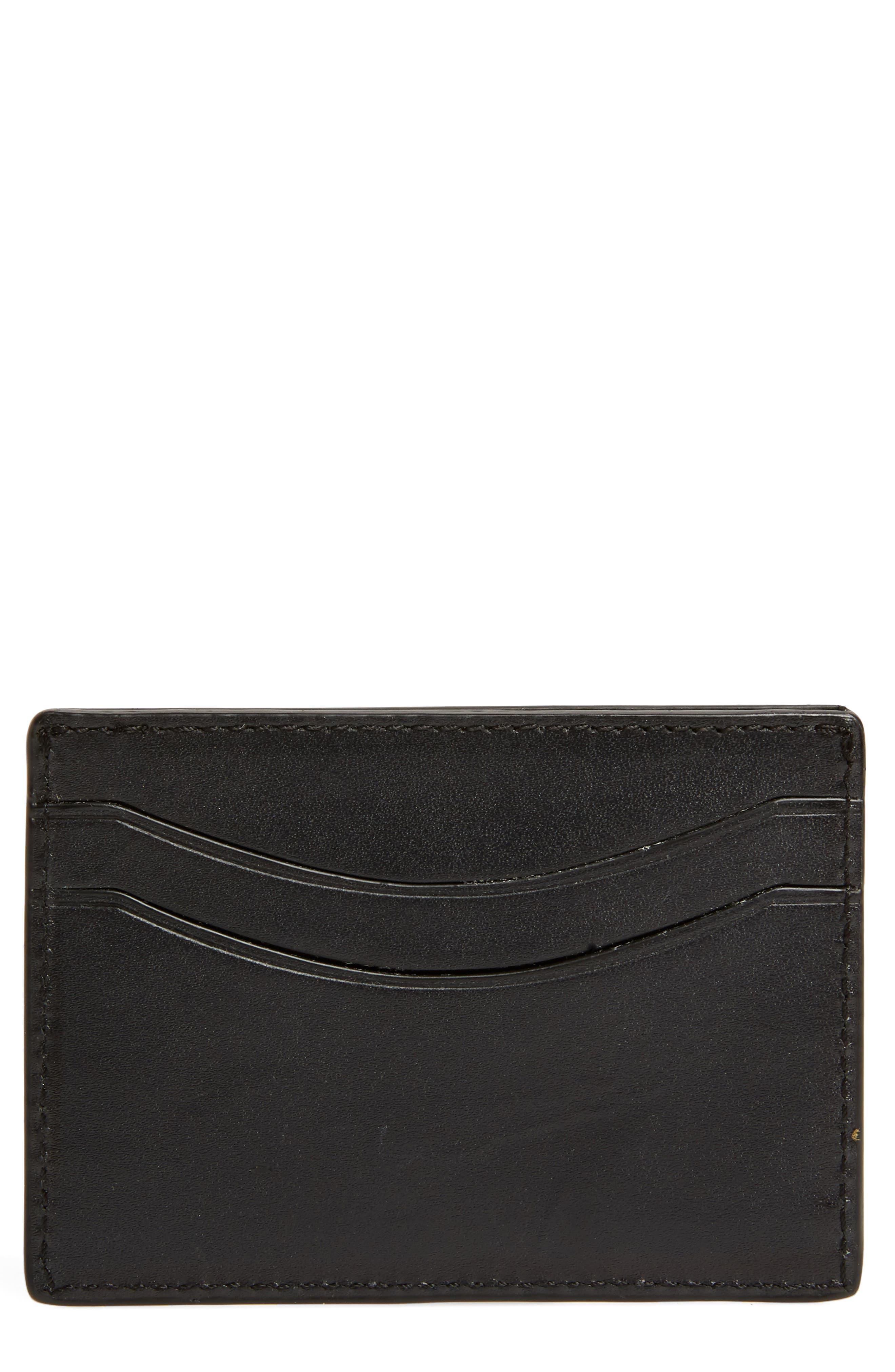 Main Image - John Varvatos Star USA Curved Leather Card Case