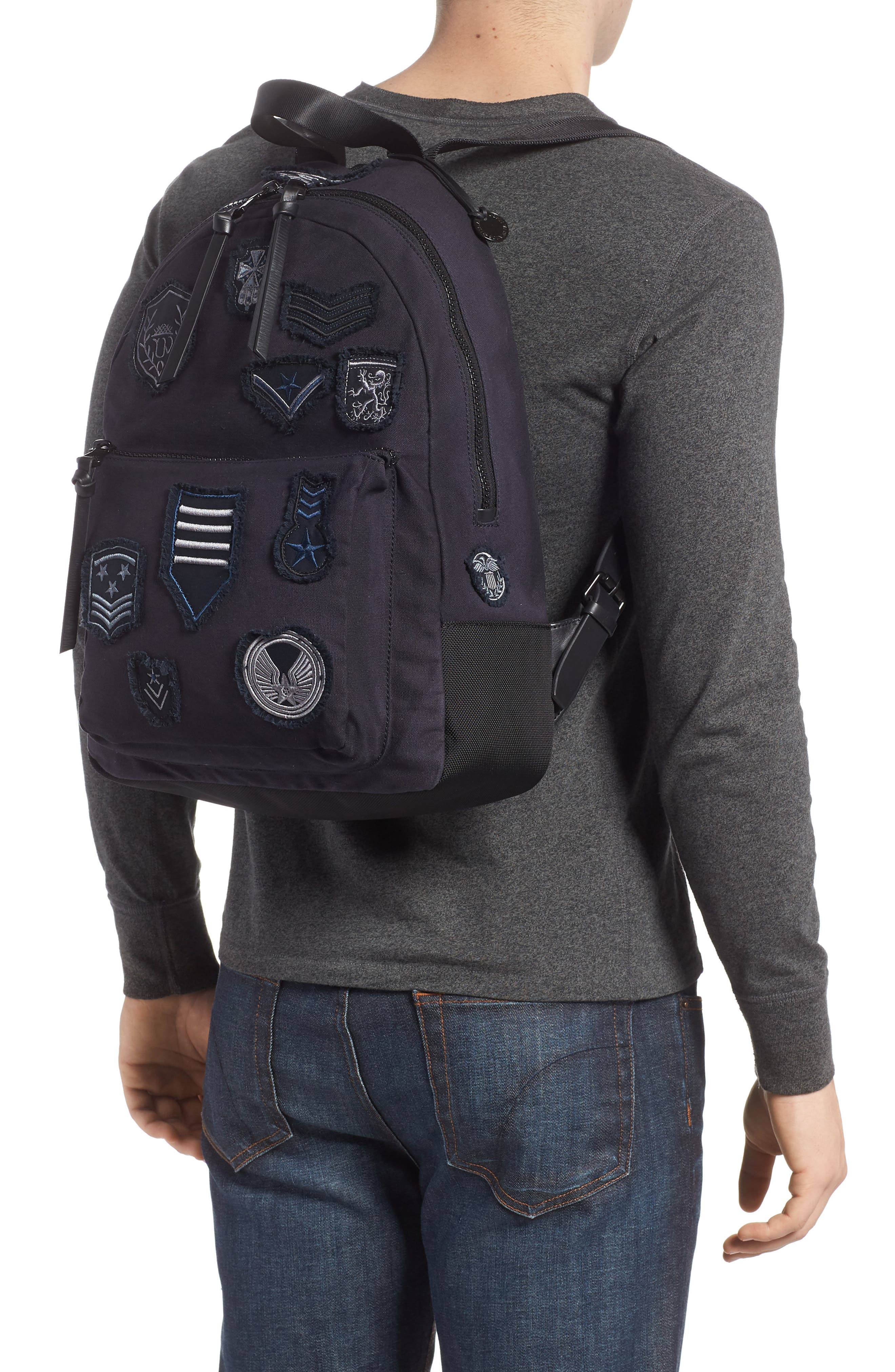 Gibson Patch Backpack,                             Alternate thumbnail 2, color,                             Midnight