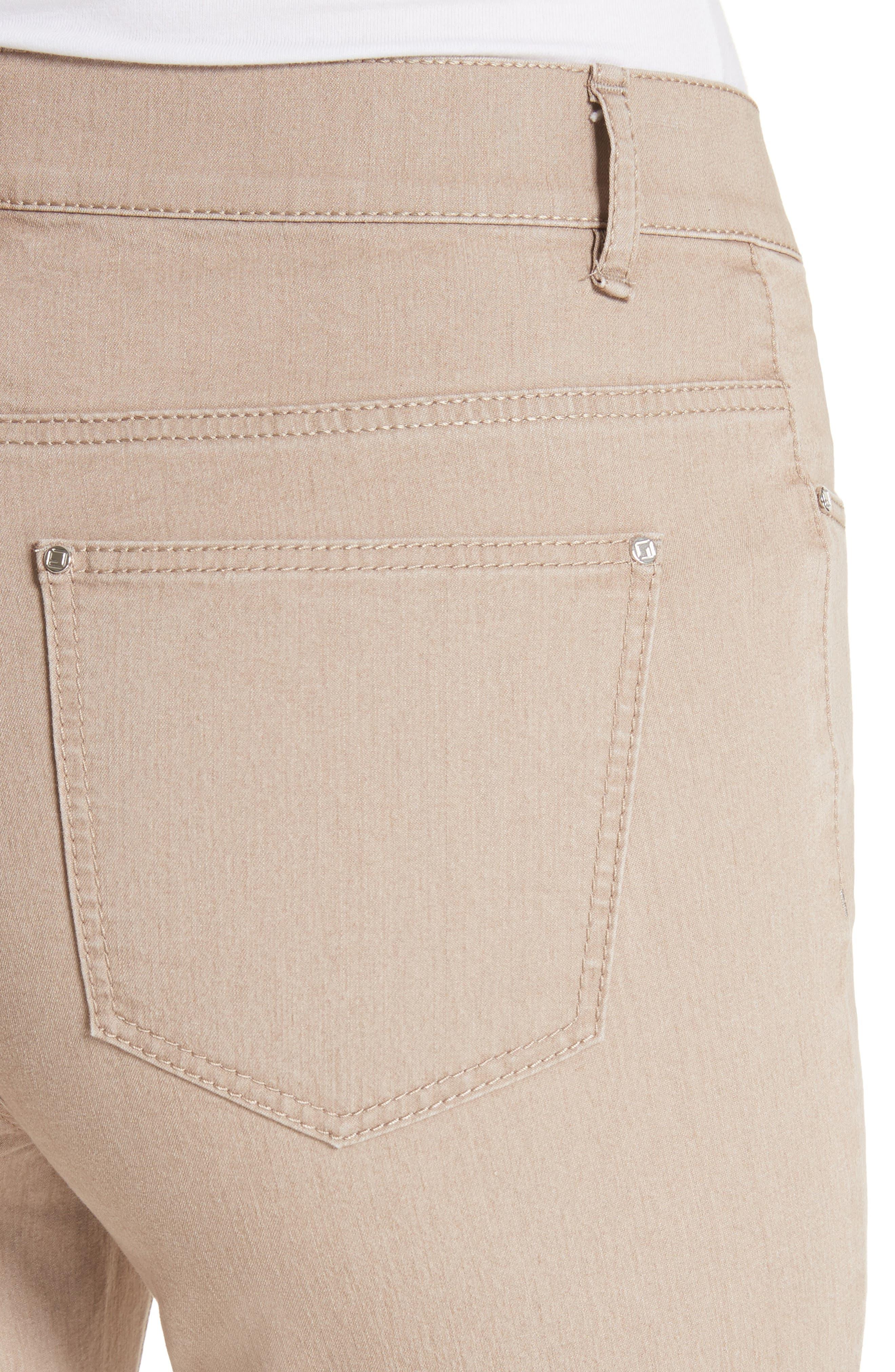 'Primo Denim' Curvy Fit Slim Leg Jeans,                             Alternate thumbnail 4, color,                             Pumice