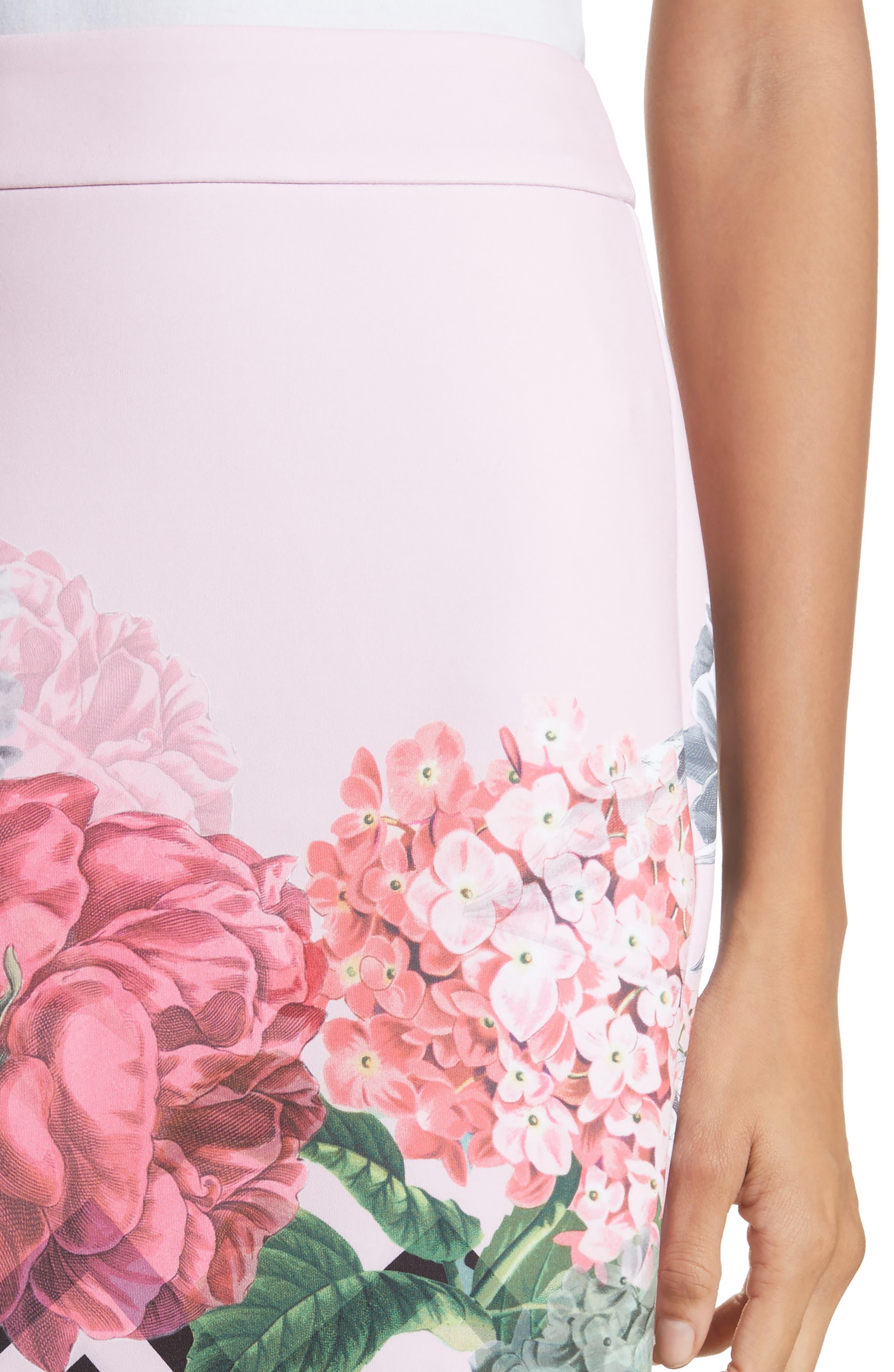 Soella Pencil Skirt,                             Alternate thumbnail 4, color,                             Pale Pink
