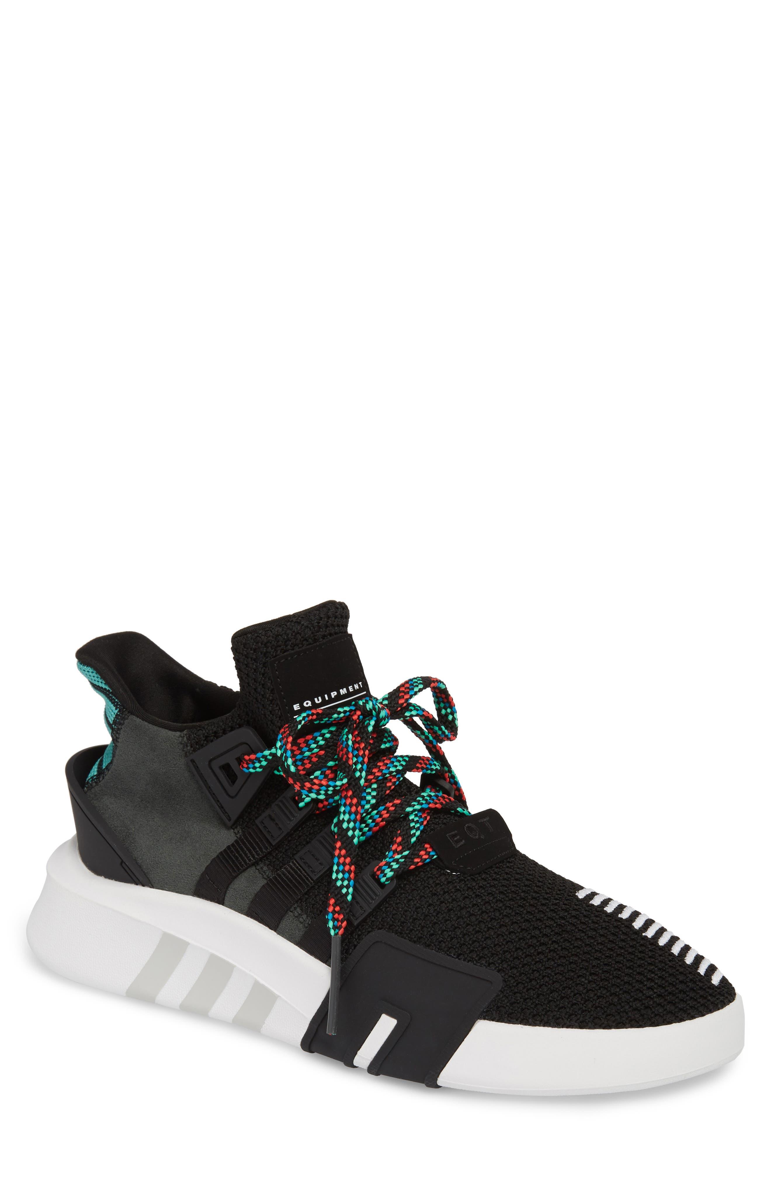 EQT Basketball ADV Sneaker,                         Main,                         color, Core Black/ Sub Green