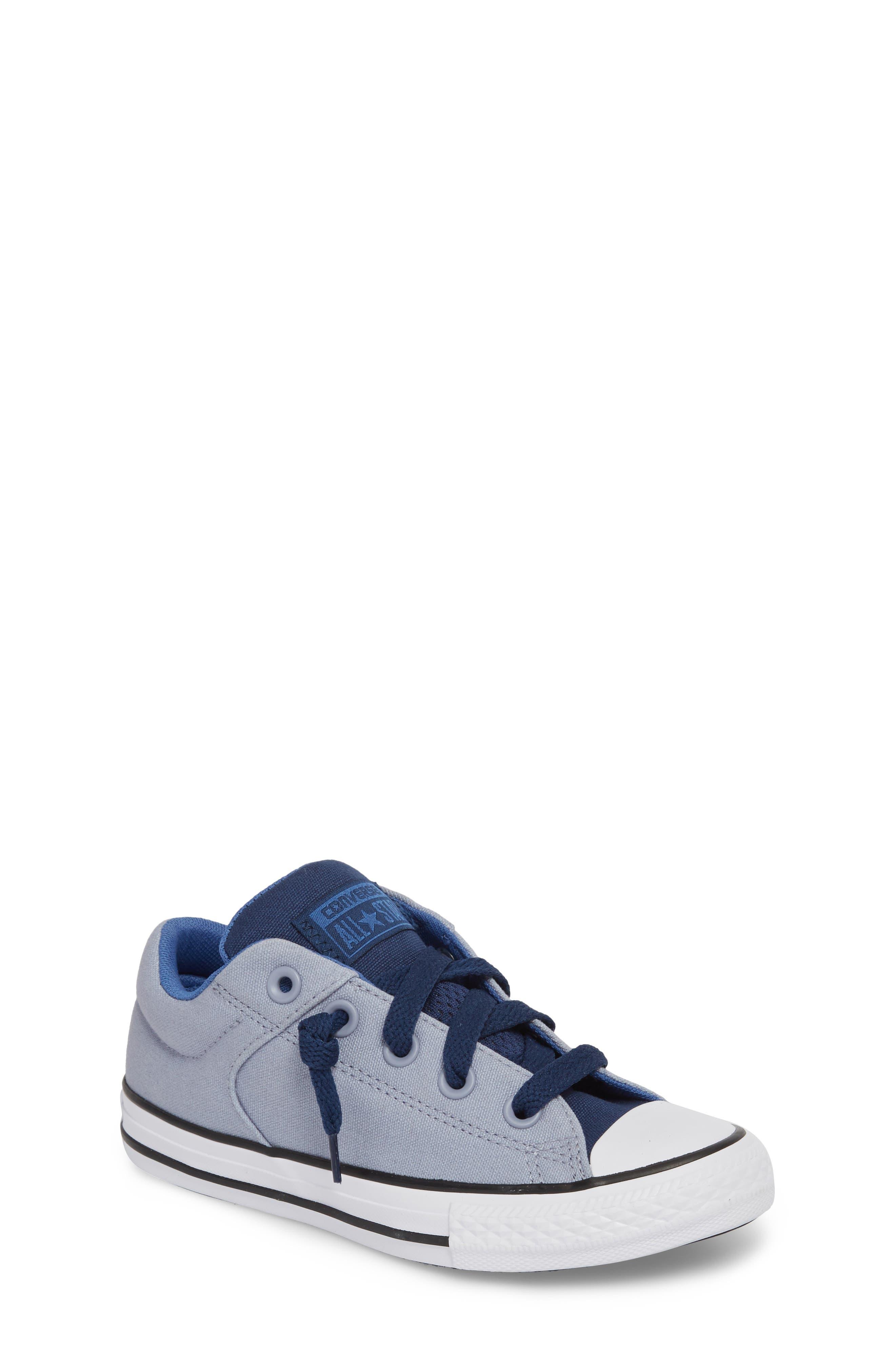 Chuck Taylor<sup>®</sup> All Star<sup>®</sup> 'High Street' Slip-On Sneaker,                             Main thumbnail 1, color,                             Glacier Grey