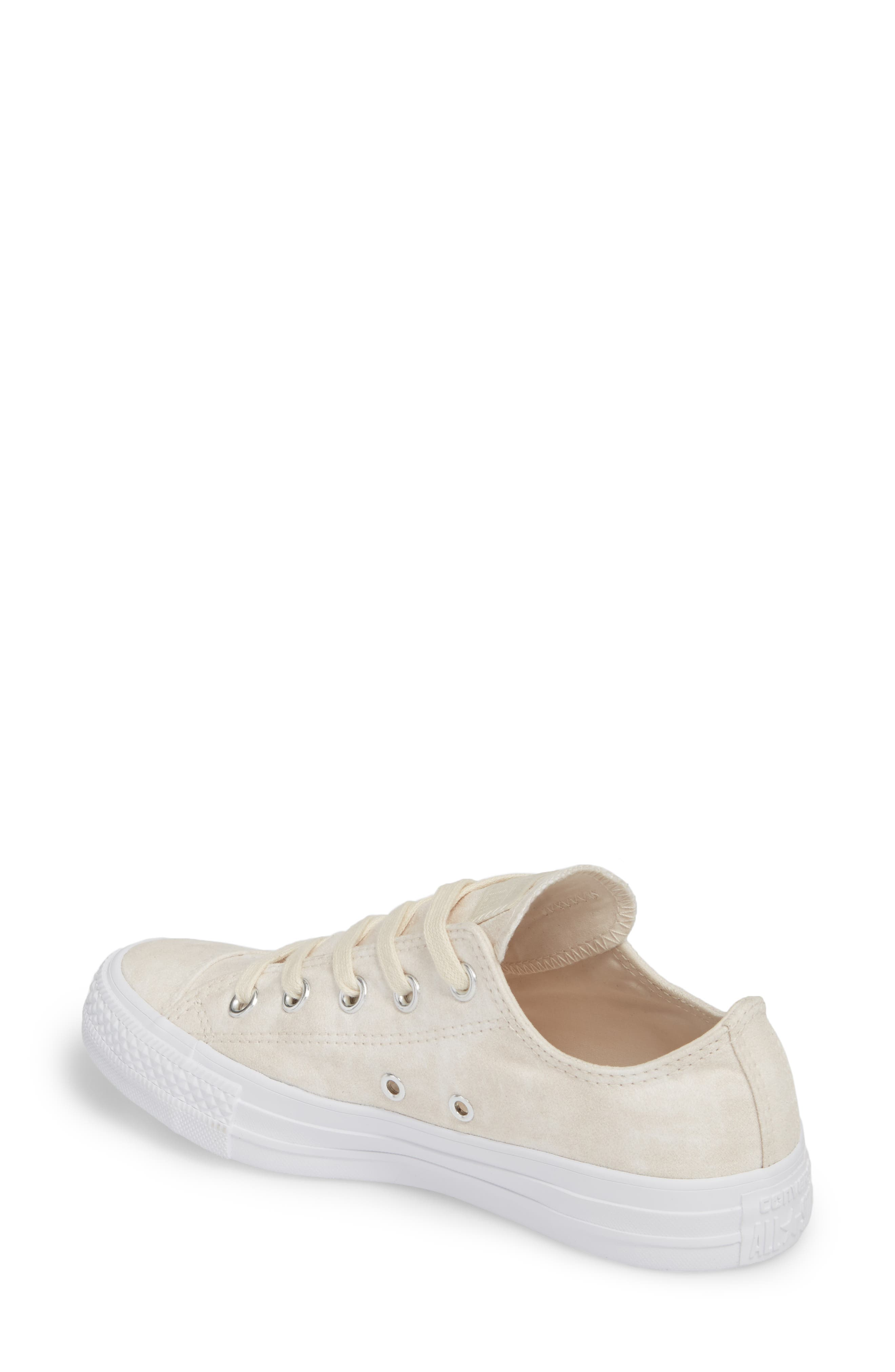 Chuck Taylor<sup>®</sup> All Star<sup>®</sup> Peached Low Top Sneaker,                             Alternate thumbnail 2, color,                             Driftwood