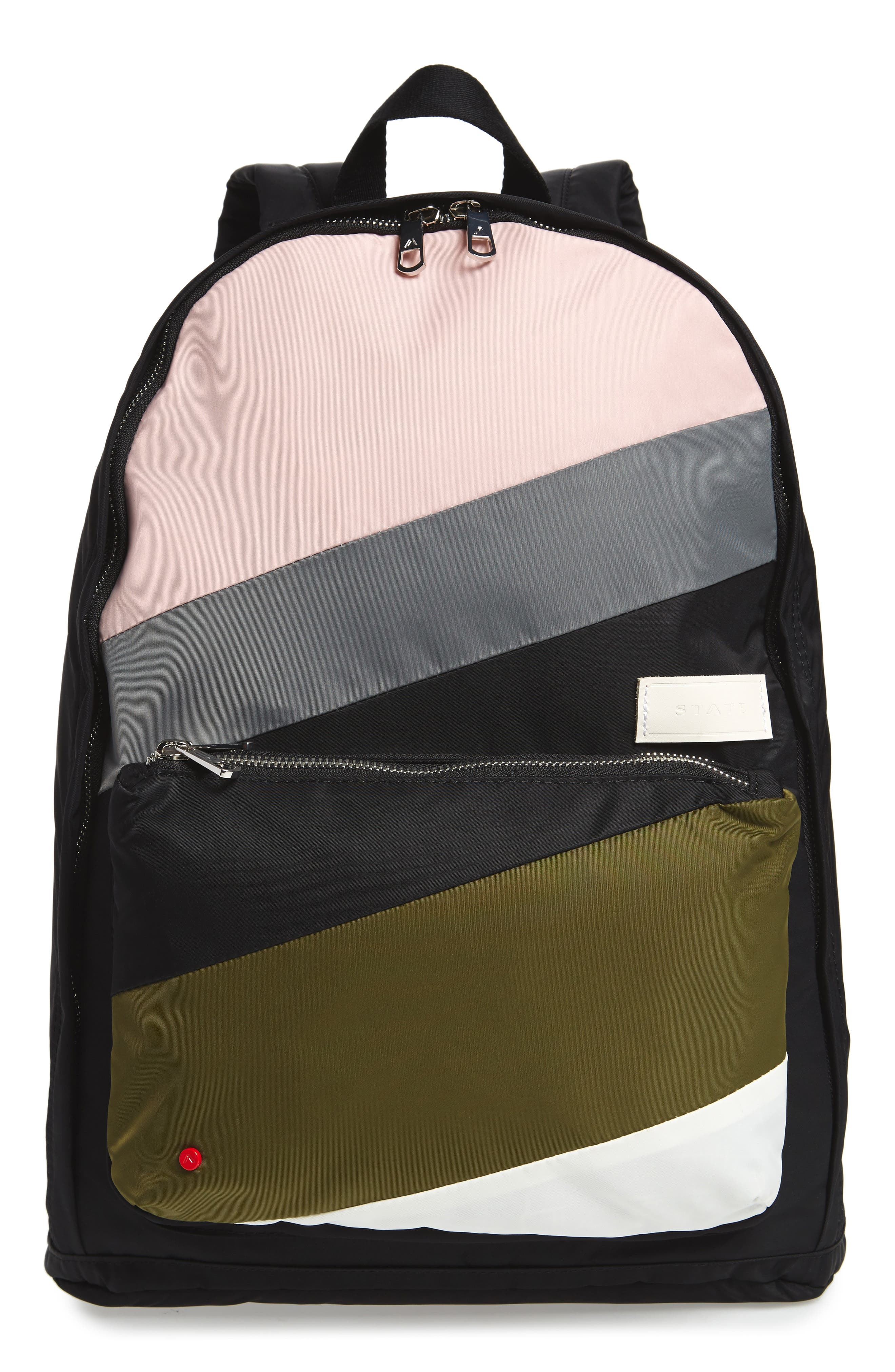The Heights Lorimer Backpack,                             Main thumbnail 1, color,                             Black Stripe