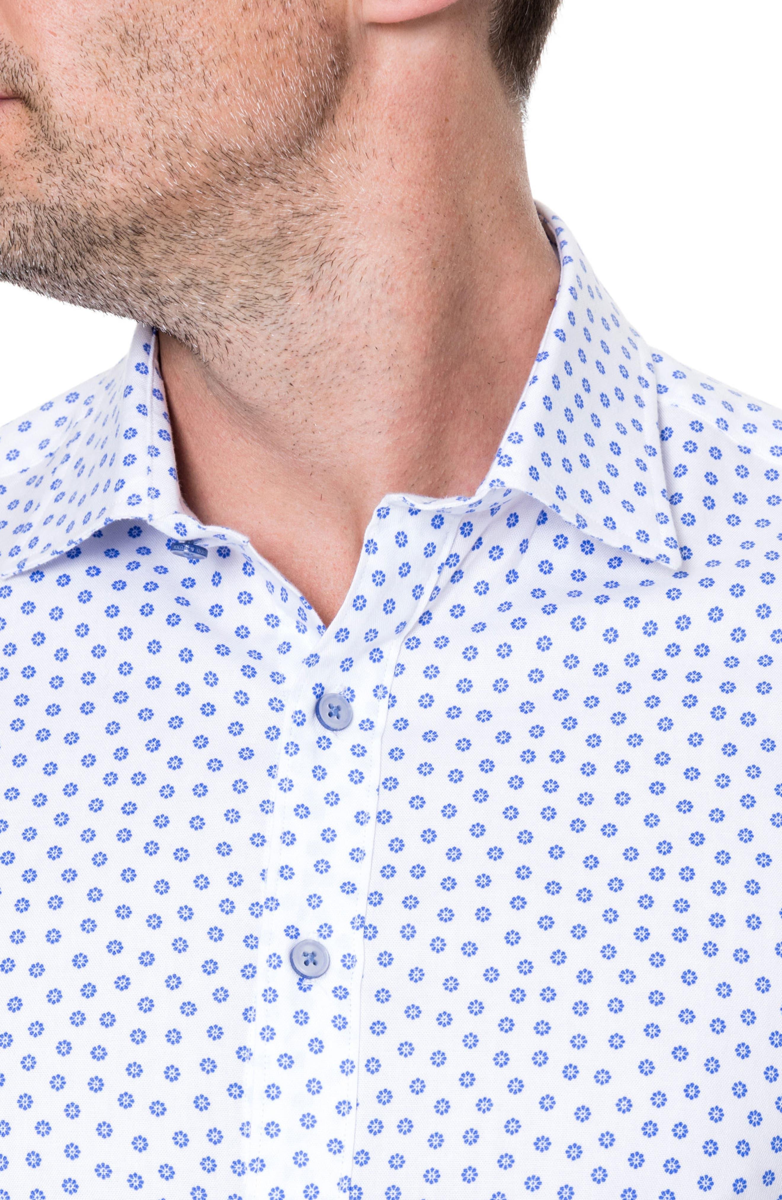 Drummond Regular Fit Sport Shirt,                             Alternate thumbnail 2, color,                             Snow
